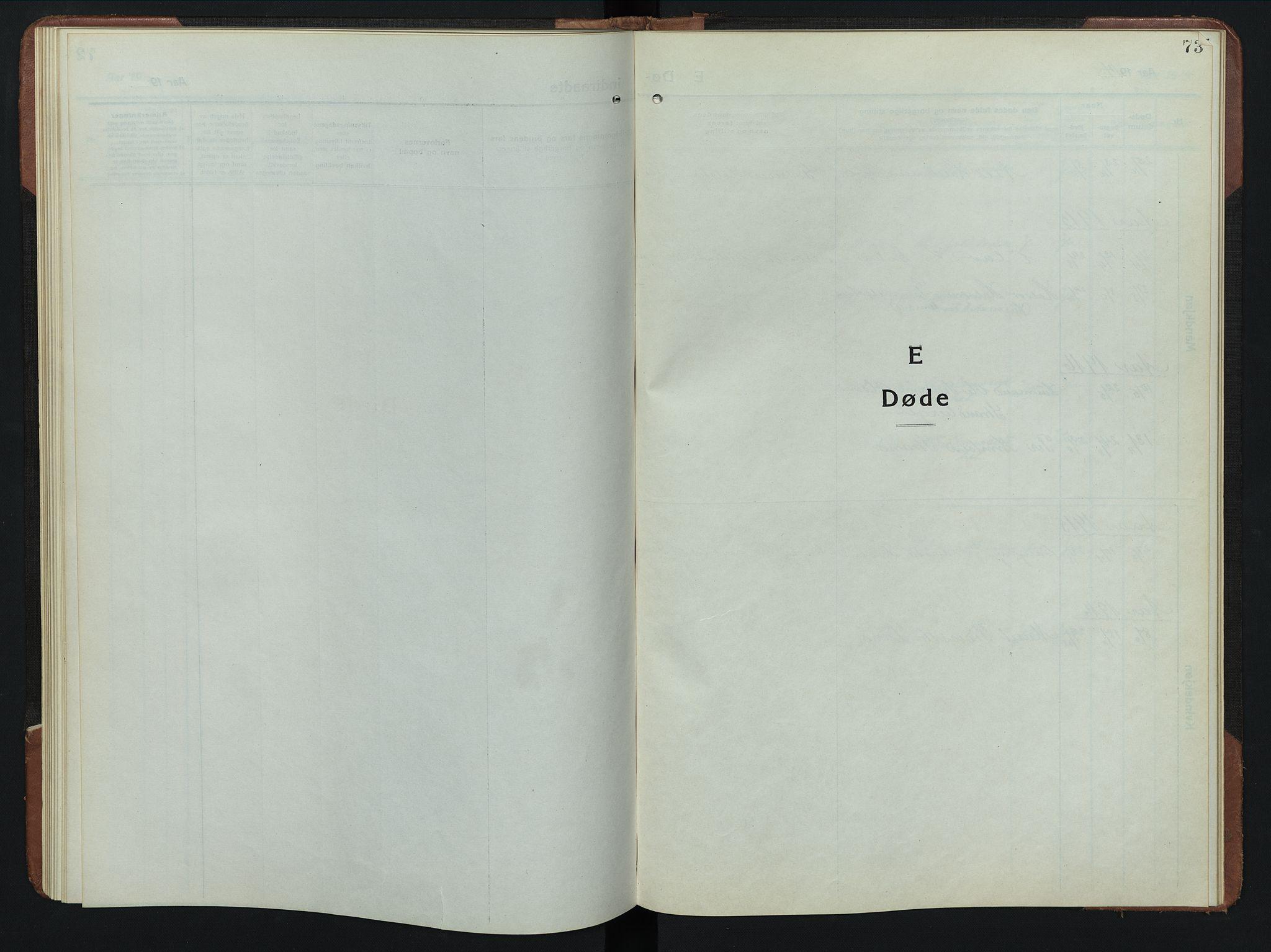 SAH, Rendalen prestekontor, H/Ha/Hab/L0008: Klokkerbok nr. 8, 1914-1948, s. 73