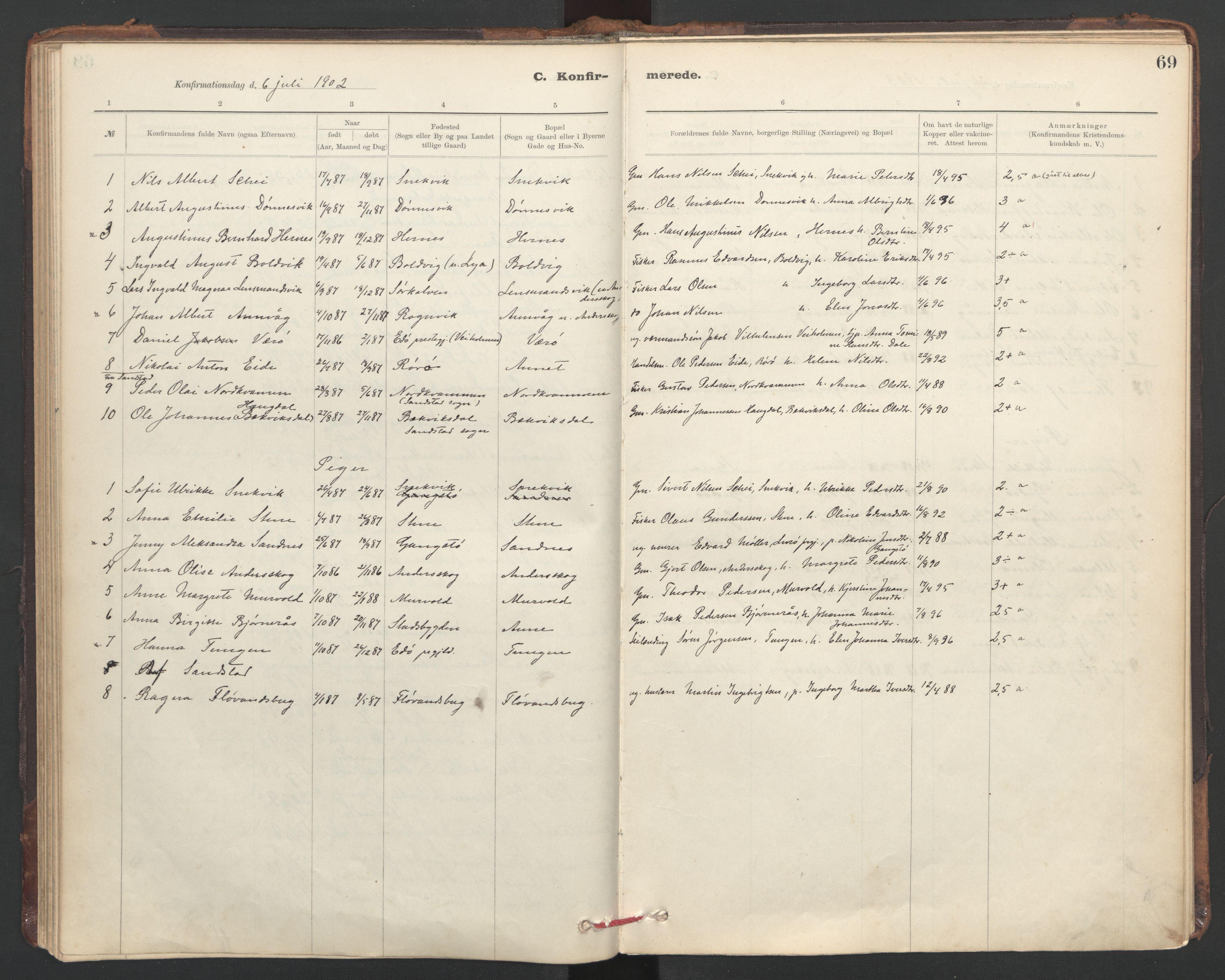 SAT, Ministerialprotokoller, klokkerbøker og fødselsregistre - Sør-Trøndelag, 635/L0552: Ministerialbok nr. 635A02, 1899-1919, s. 69