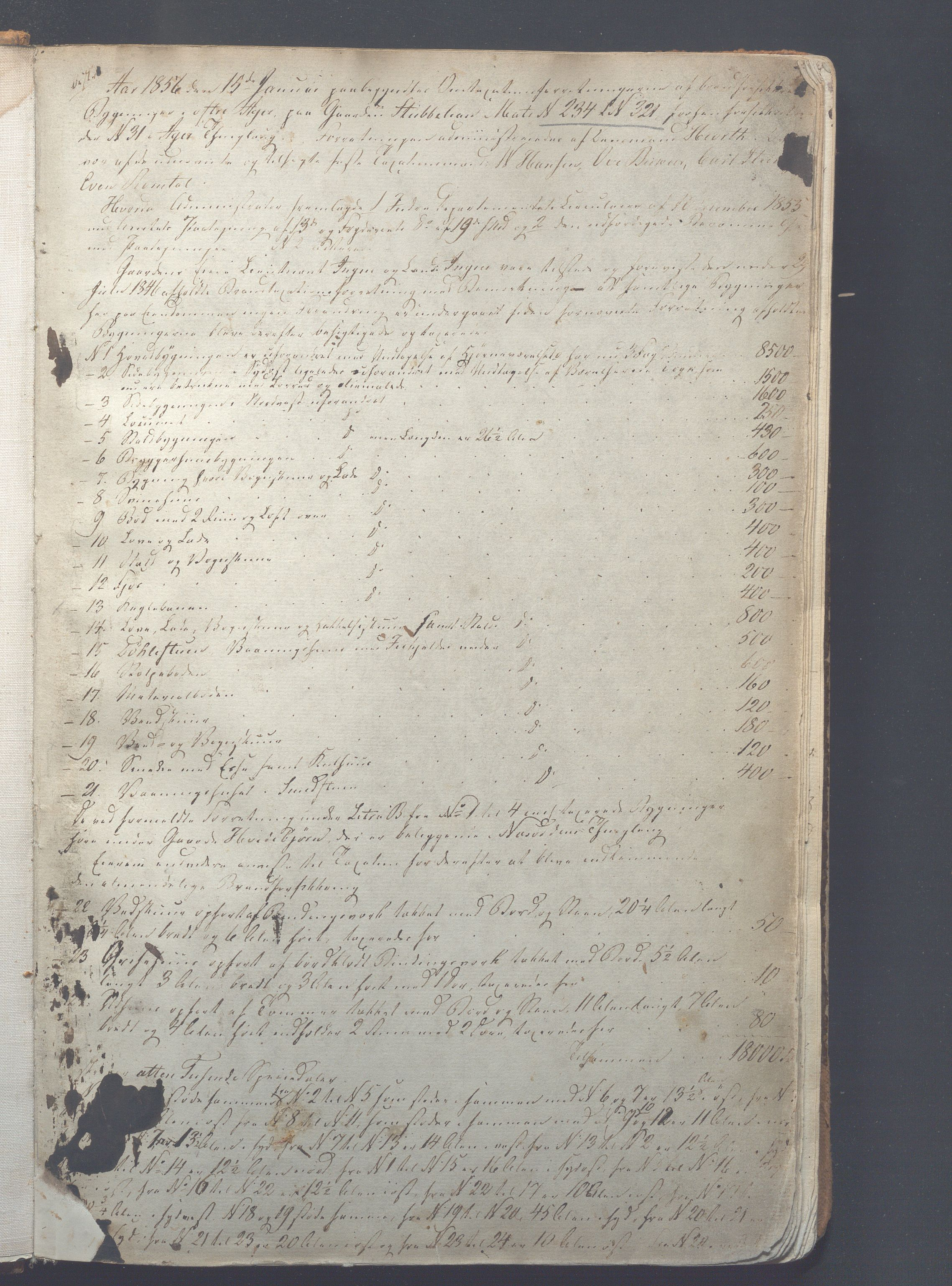OBA, Lensmennene i Aker, F/Fc/L0002: Branntakstprotokoll, 1856-1875, s. 1a