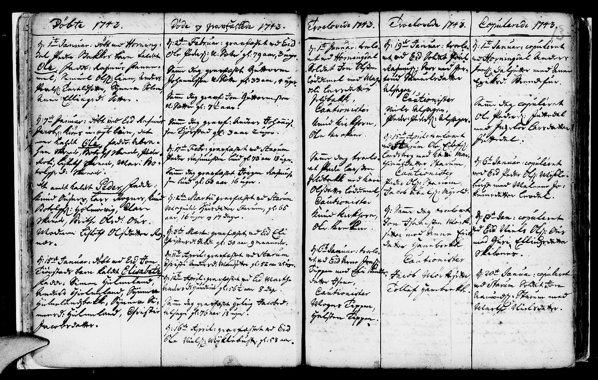 SAB, Eid Sokneprestembete, H/Haa: Ministerialbok nr. A 2, 1741-1769, s. 13