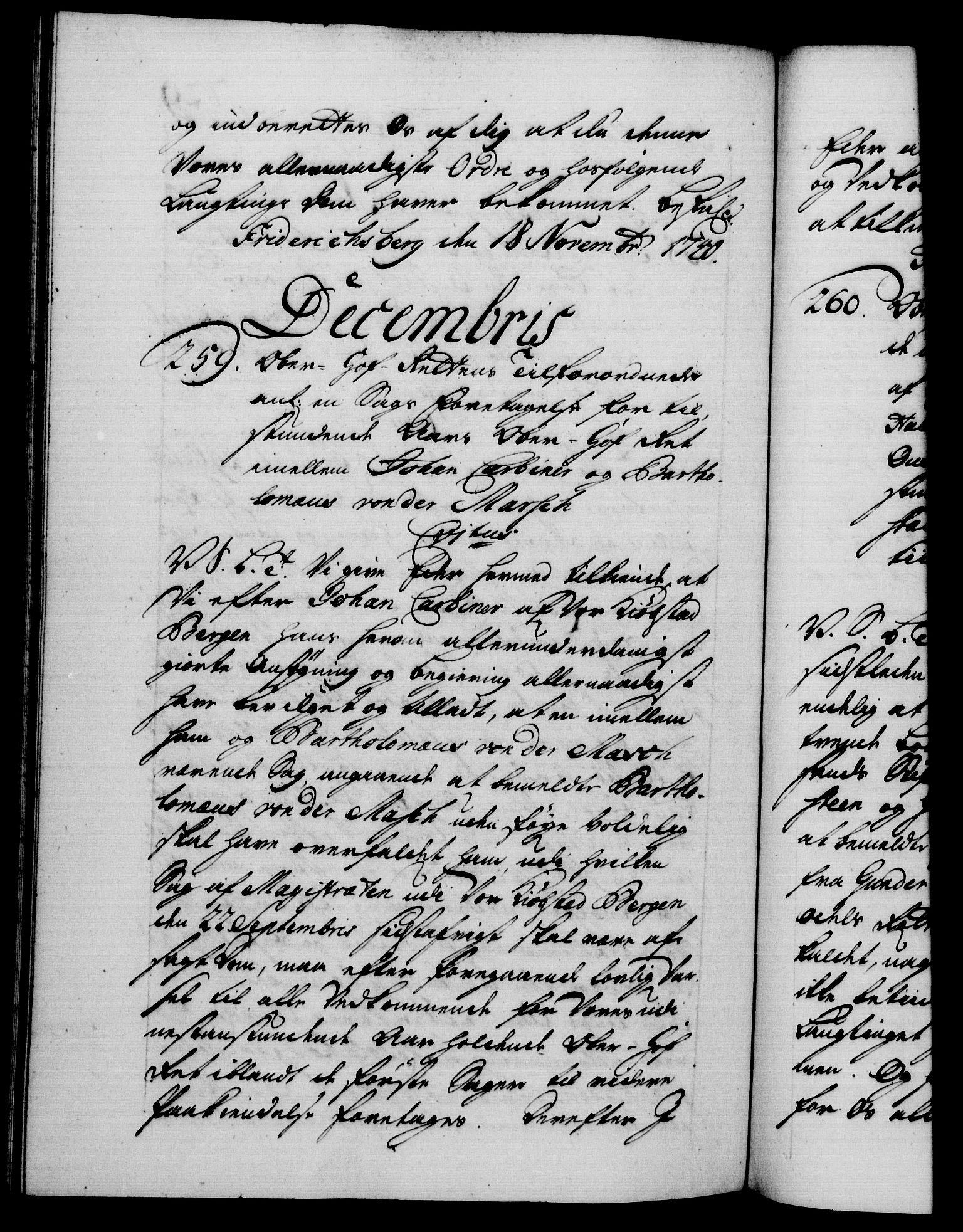 RA, Danske Kanselli 1572-1799, F/Fc/Fca/Fcab/L0028: Norske tegnelser, 1738-1740, s. 729b