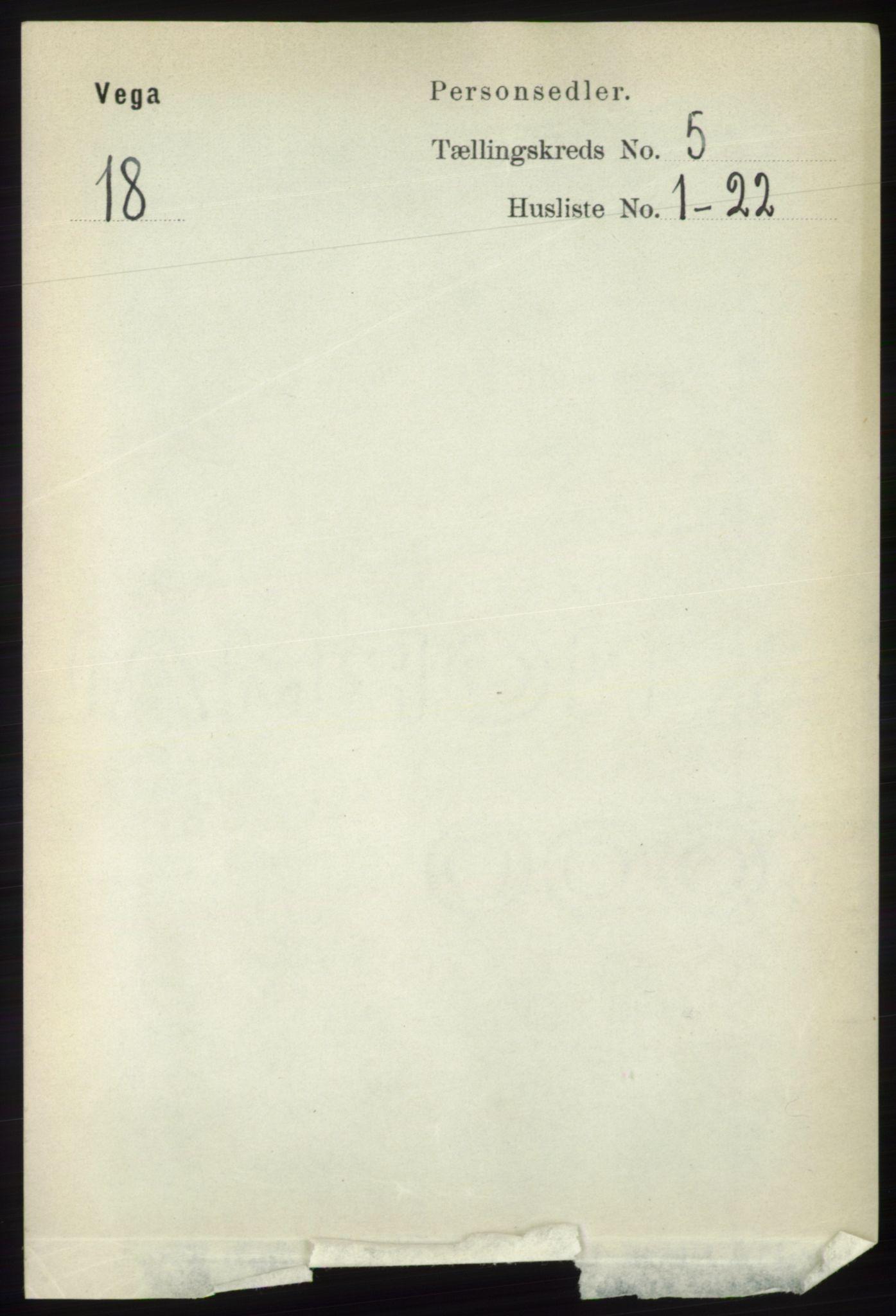 RA, Folketelling 1891 for 1815 Vega herred, 1891, s. 2066