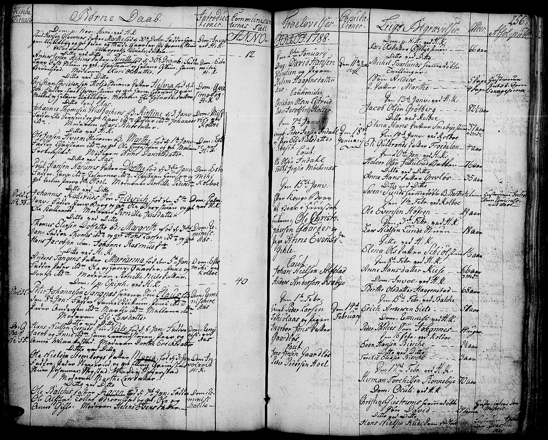 SAH, Toten prestekontor, Ministerialbok nr. 6, 1773-1793, s. 256