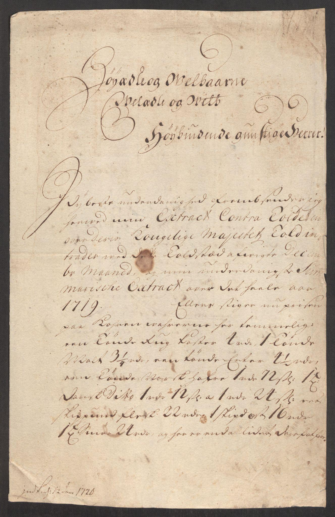 RA, Rentekammeret inntil 1814, Realistisk ordnet avdeling, Oe/L0001: [Ø1]: Priskuranter, 1712-1739, s. 190