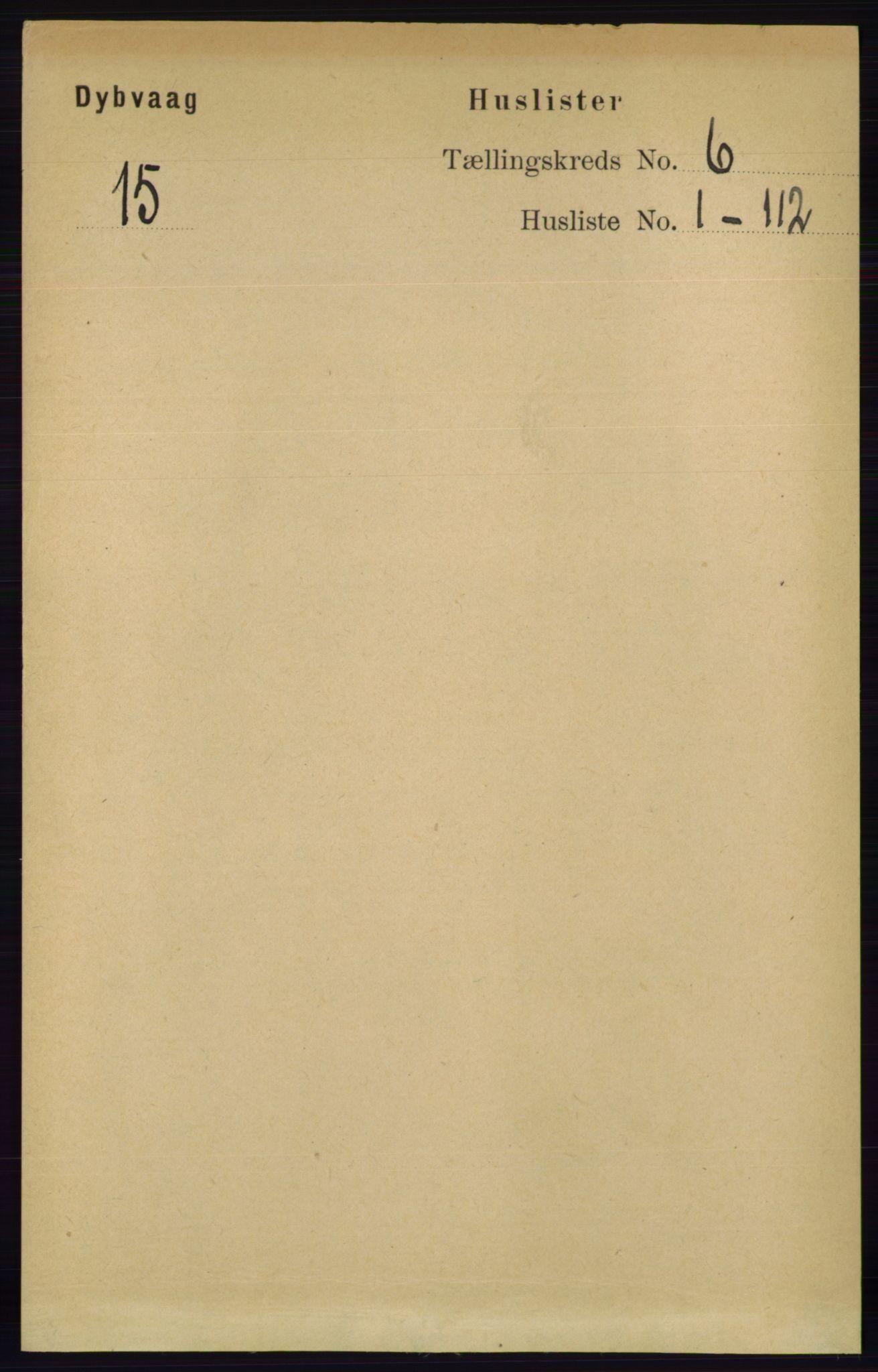RA, Folketelling 1891 for 0915 Dypvåg herred, 1891, s. 1670