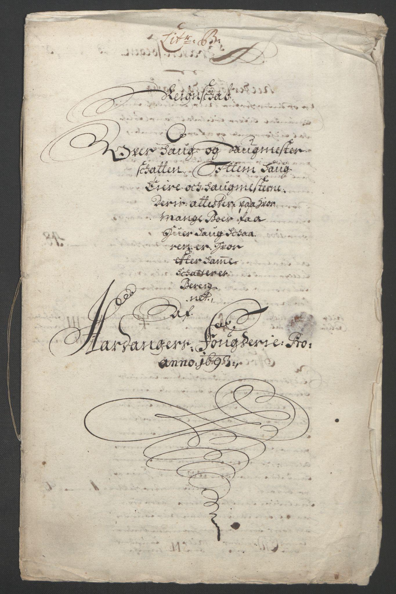 RA, Rentekammeret inntil 1814, Reviderte regnskaper, Fogderegnskap, R48/L2974: Fogderegnskap Sunnhordland og Hardanger, 1693, s. 254