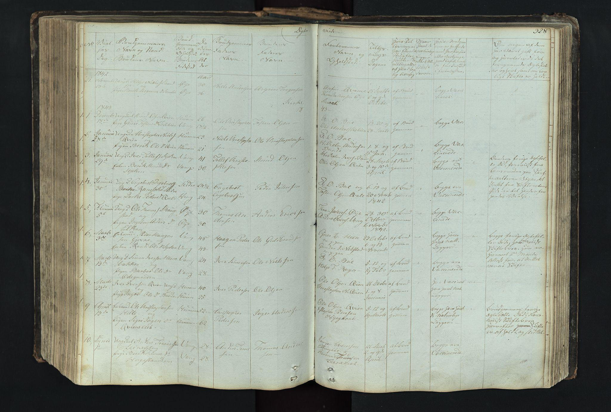 SAH, Vang prestekontor, Valdres, Klokkerbok nr. 4, 1835-1892, s. 328