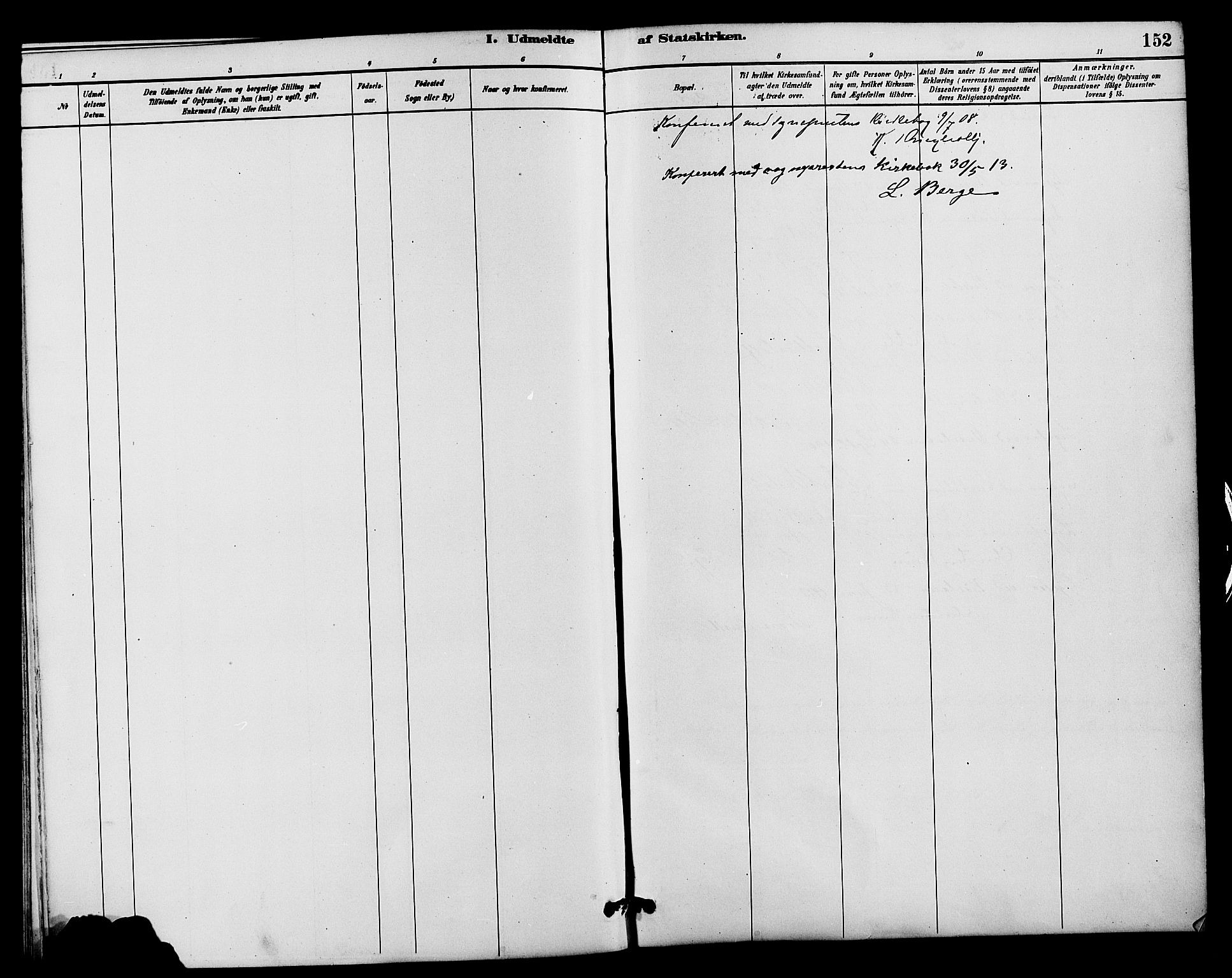 SAH, Vestre Slidre prestekontor, Klokkerbok nr. 4, 1881-1912, s. 152