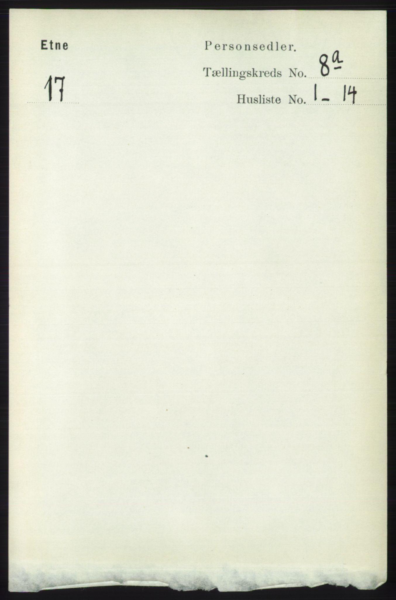 RA, Folketelling 1891 for 1211 Etne herred, 1891, s. 1538