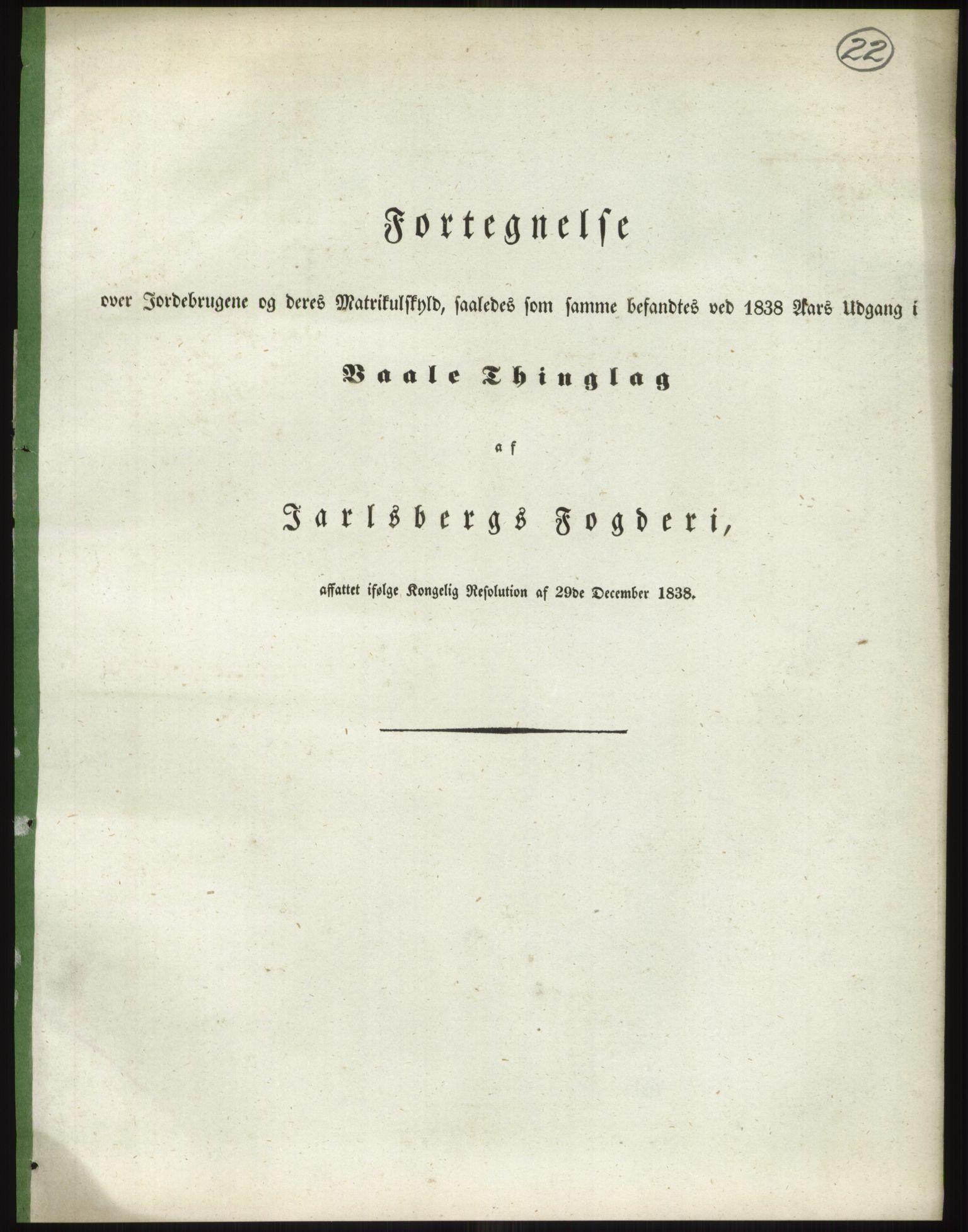 RA, 1838-matrikkelen (publikasjon)*, 1838, s. 22
