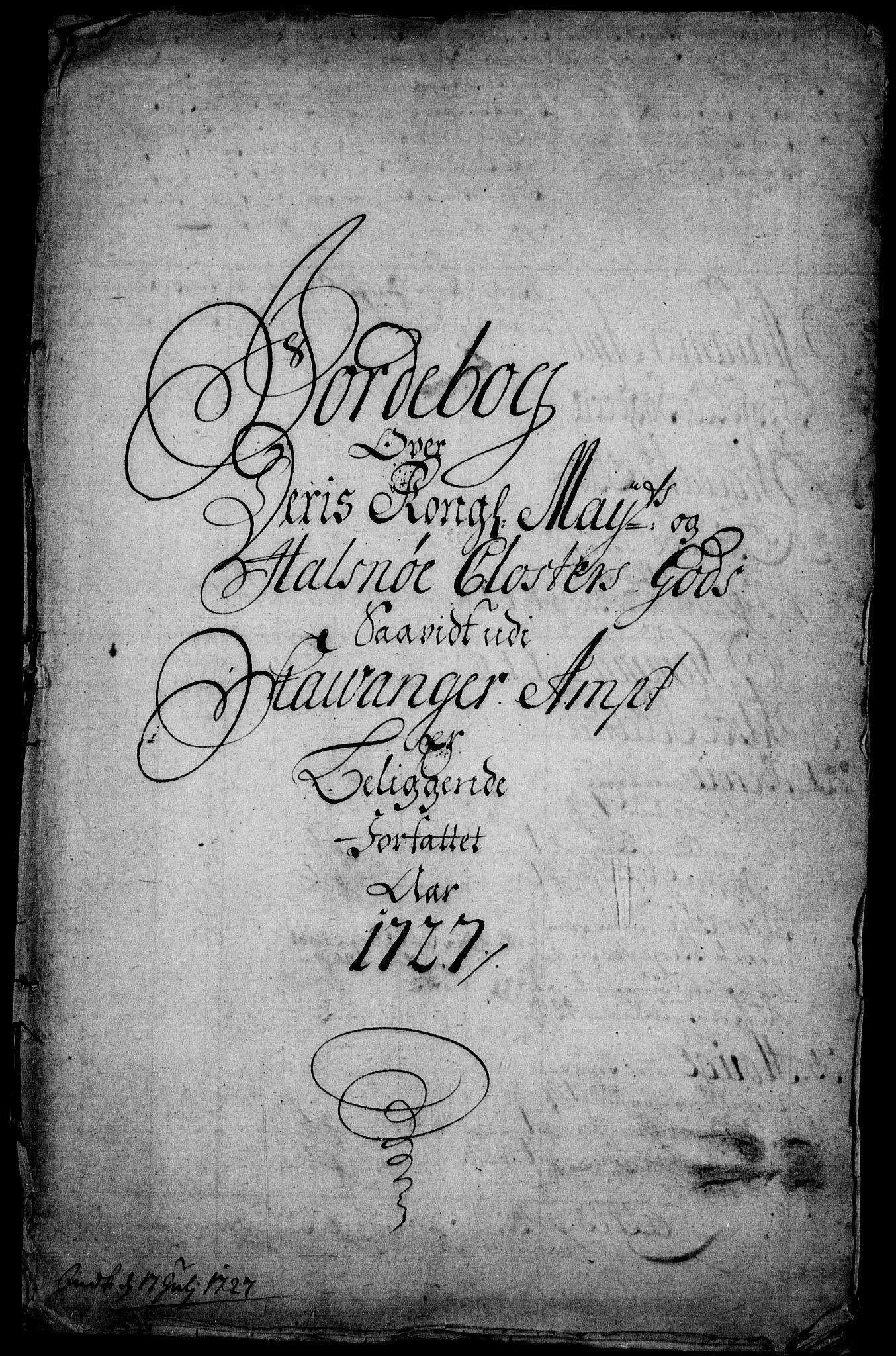 RA, Rentekammeret inntil 1814, Realistisk ordnet avdeling, On/L0003: [Jj 4]: Kommisjonsforretning over Vilhelm Hanssøns forpaktning av Halsnøy klosters gods, 1721-1729, s. 207