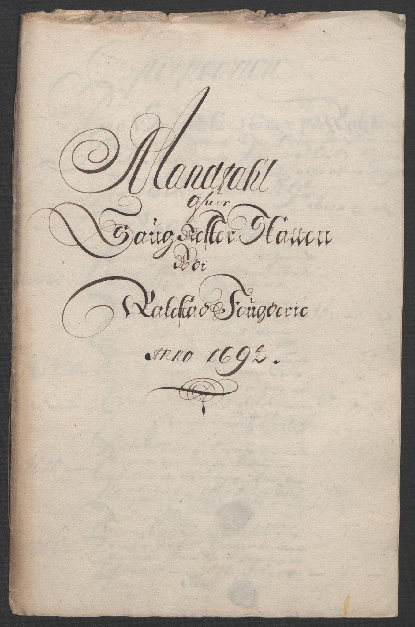 RA, Rentekammeret inntil 1814, Reviderte regnskaper, Fogderegnskap, R07/L0284: Fogderegnskap Rakkestad, Heggen og Frøland, 1694, s. 219