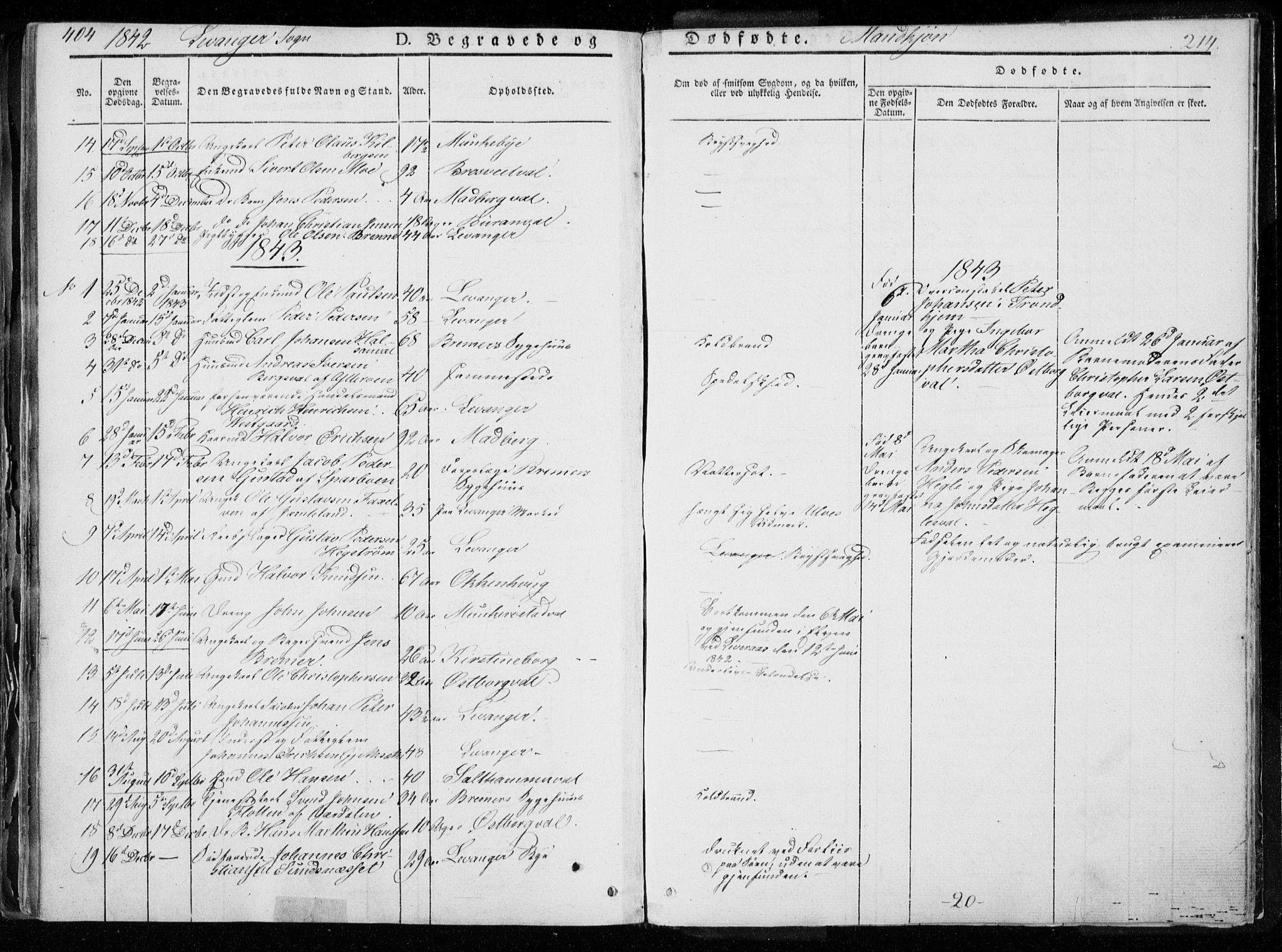 SAT, Ministerialprotokoller, klokkerbøker og fødselsregistre - Nord-Trøndelag, 720/L0183: Ministerialbok nr. 720A01, 1836-1855, s. 214