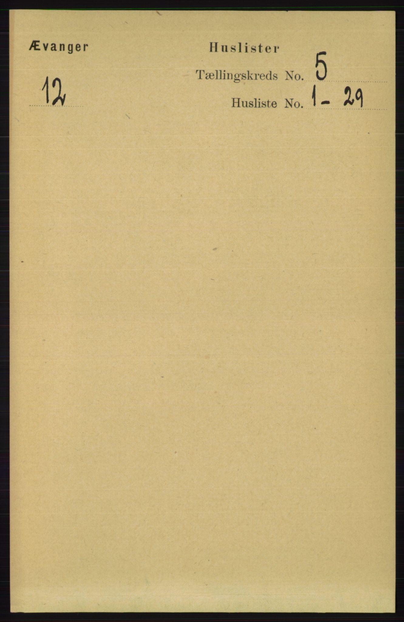 RA, Folketelling 1891 for 1237 Evanger herred, 1891, s. 1358