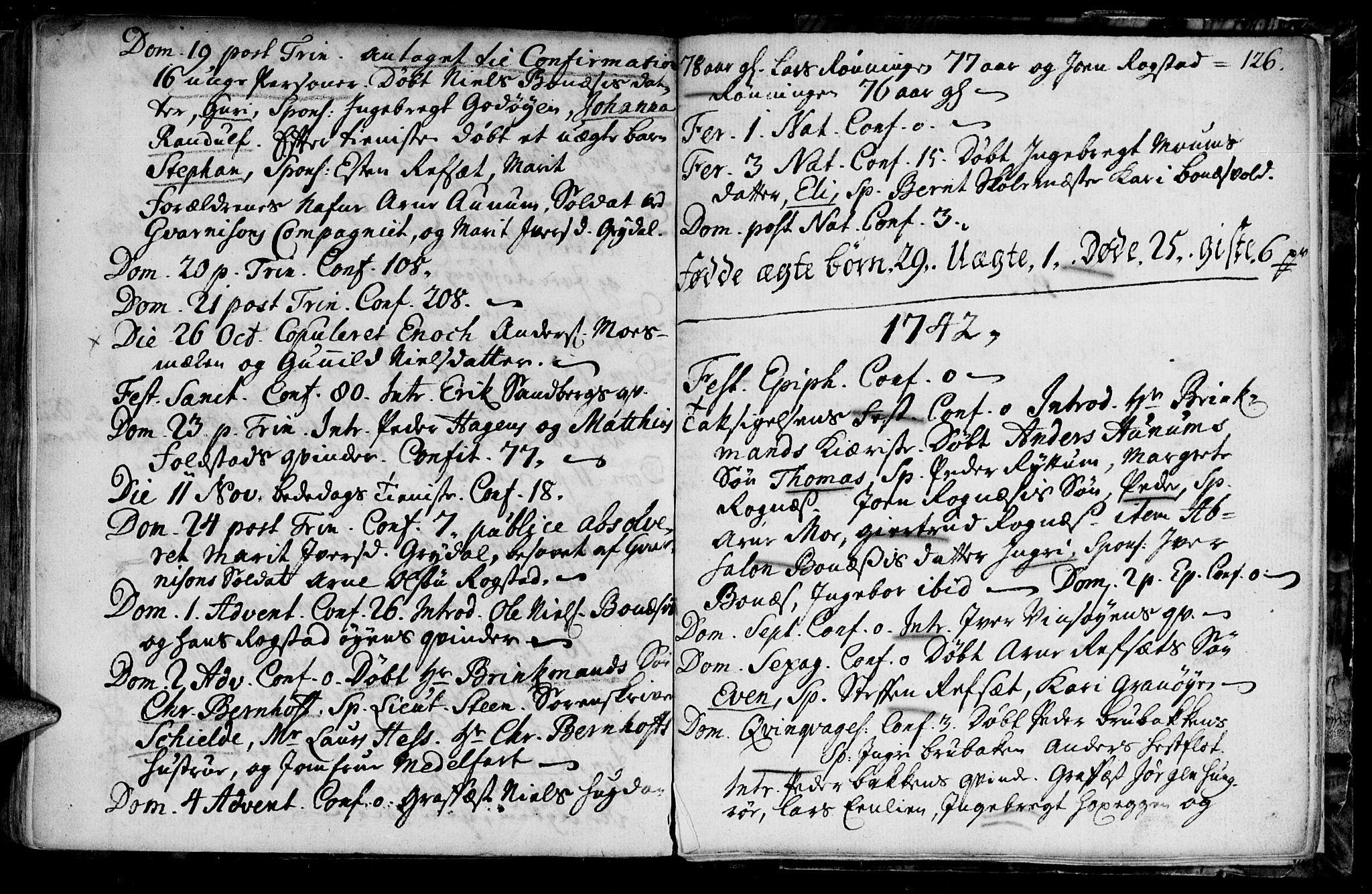 SAT, Ministerialprotokoller, klokkerbøker og fødselsregistre - Sør-Trøndelag, 687/L0990: Ministerialbok nr. 687A01, 1690-1746, s. 126