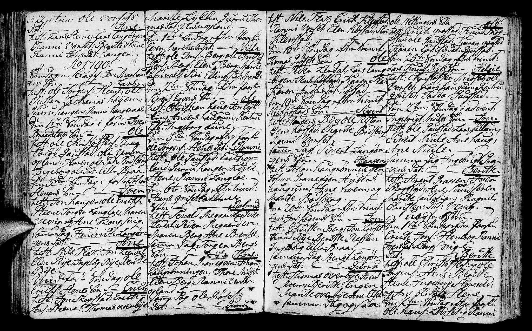 SAT, Ministerialprotokoller, klokkerbøker og fødselsregistre - Sør-Trøndelag, 612/L0370: Ministerialbok nr. 612A04, 1754-1802, s. 115