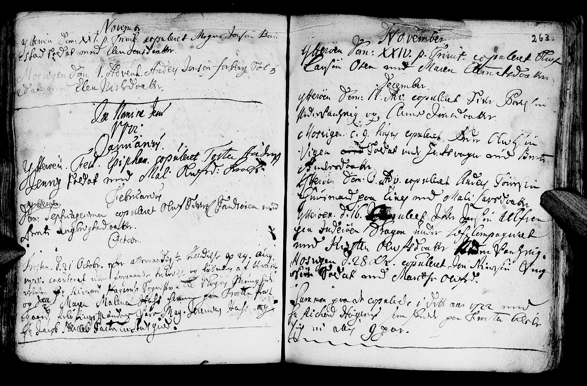 SAT, Ministerialprotokoller, klokkerbøker og fødselsregistre - Nord-Trøndelag, 722/L0215: Ministerialbok nr. 722A02, 1718-1755, s. 263
