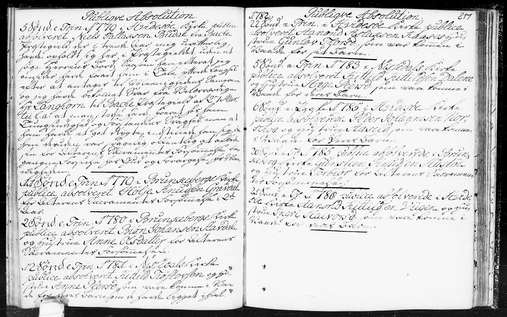SAKO, Kviteseid kirkebøker, F/Fa/L0002: Ministerialbok nr. I 2, 1773-1786, s. 217