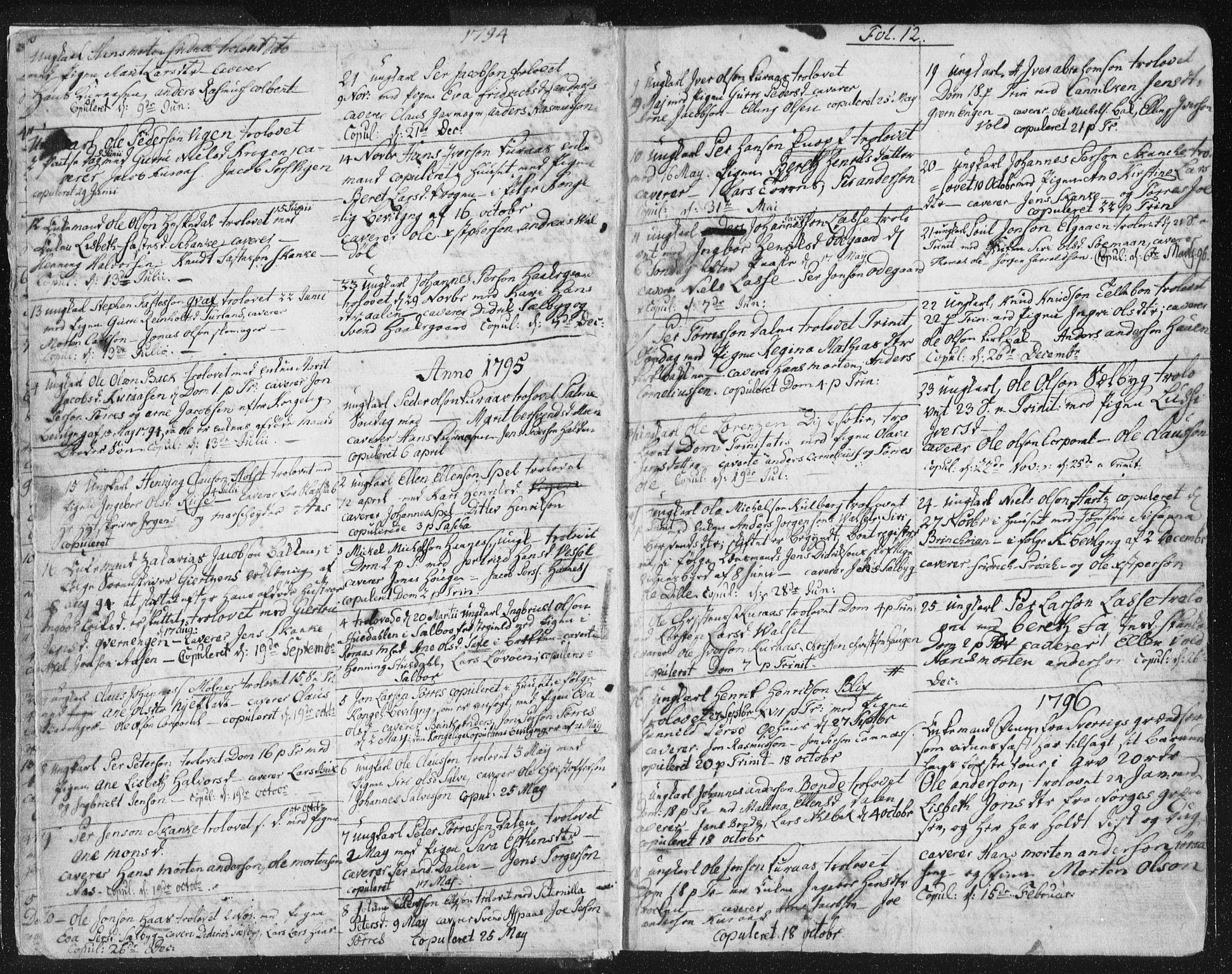 SAT, Ministerialprotokoller, klokkerbøker og fødselsregistre - Sør-Trøndelag, 681/L0926: Ministerialbok nr. 681A04, 1767-1797, s. 12