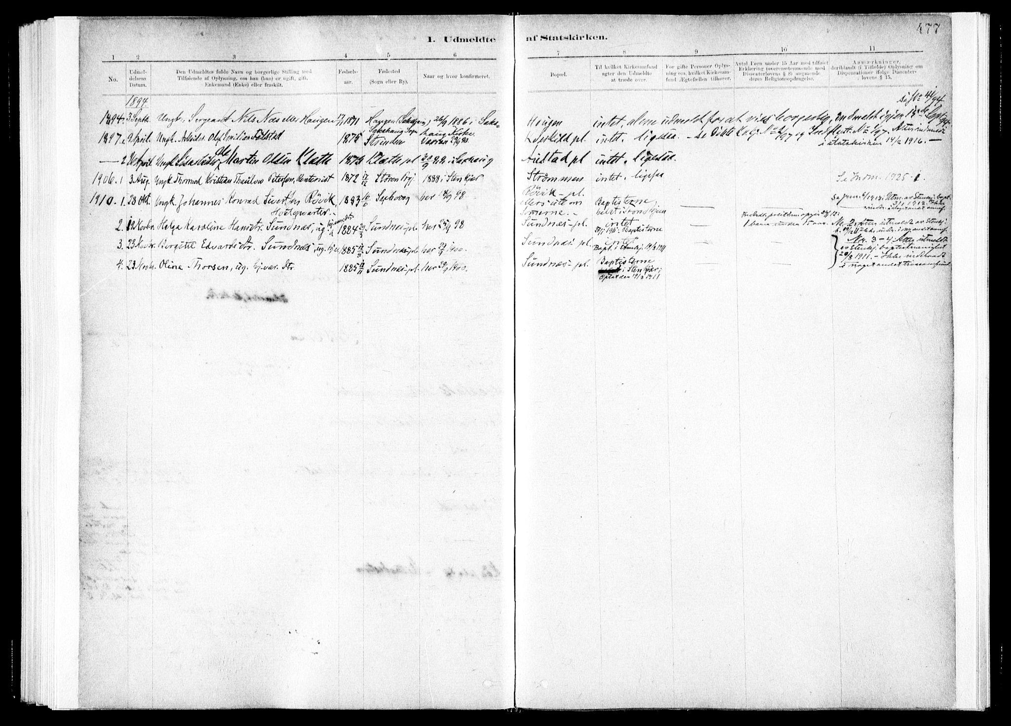 SAT, Ministerialprotokoller, klokkerbøker og fødselsregistre - Nord-Trøndelag, 730/L0285: Ministerialbok nr. 730A10, 1879-1914, s. 477