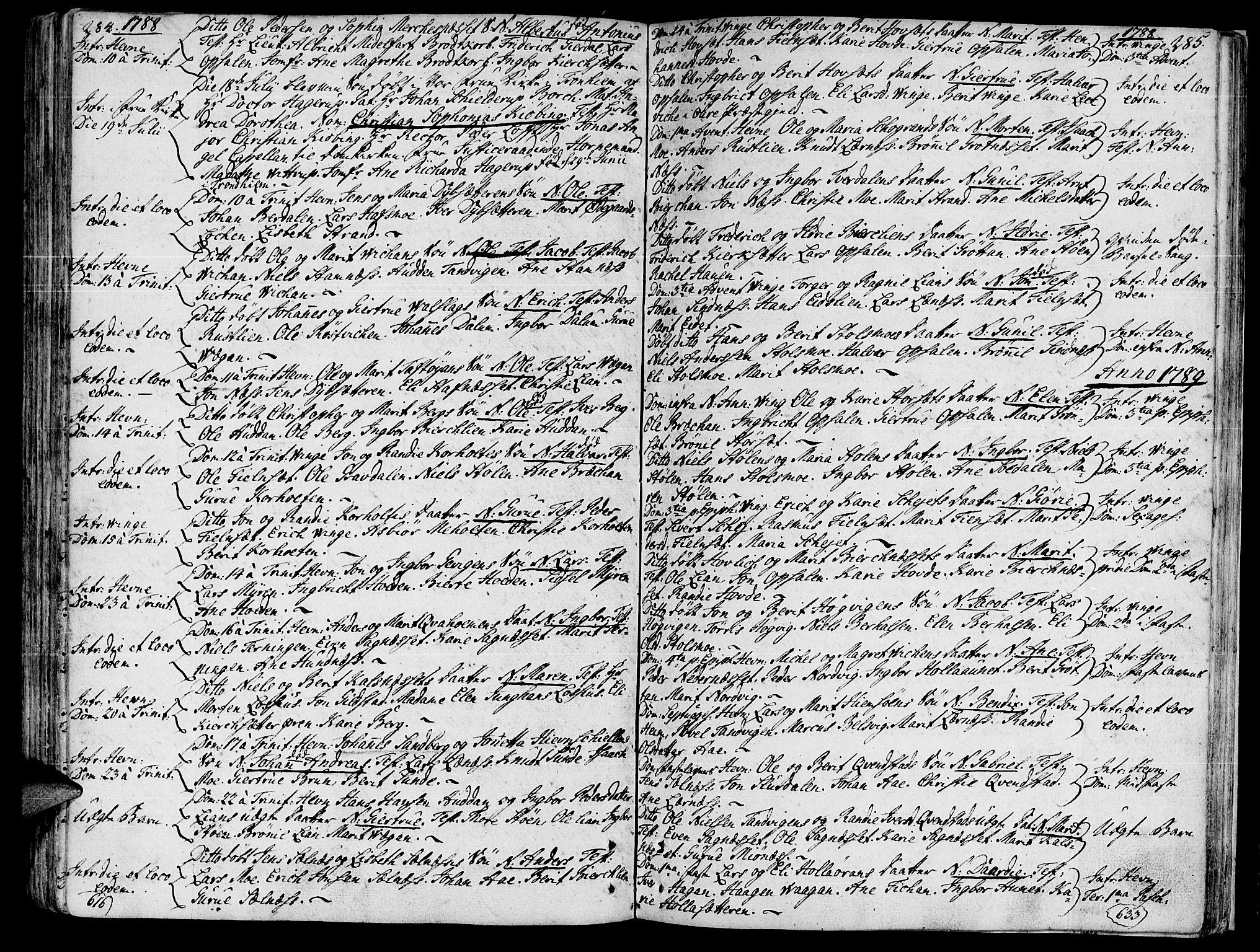 SAT, Ministerialprotokoller, klokkerbøker og fødselsregistre - Sør-Trøndelag, 630/L0489: Ministerialbok nr. 630A02, 1757-1794, s. 284-285
