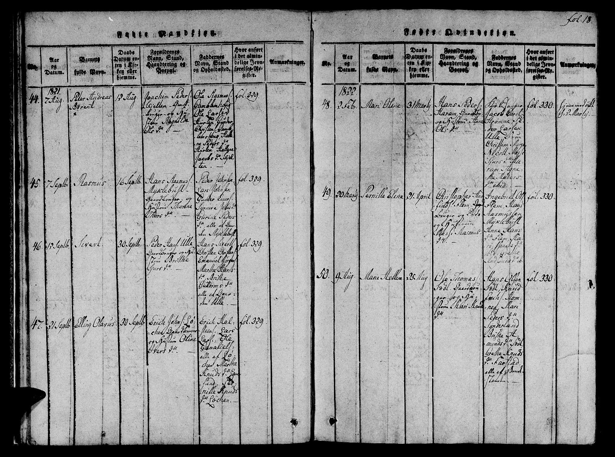 SAT, Ministerialprotokoller, klokkerbøker og fødselsregistre - Møre og Romsdal, 536/L0495: Ministerialbok nr. 536A04, 1818-1847, s. 18