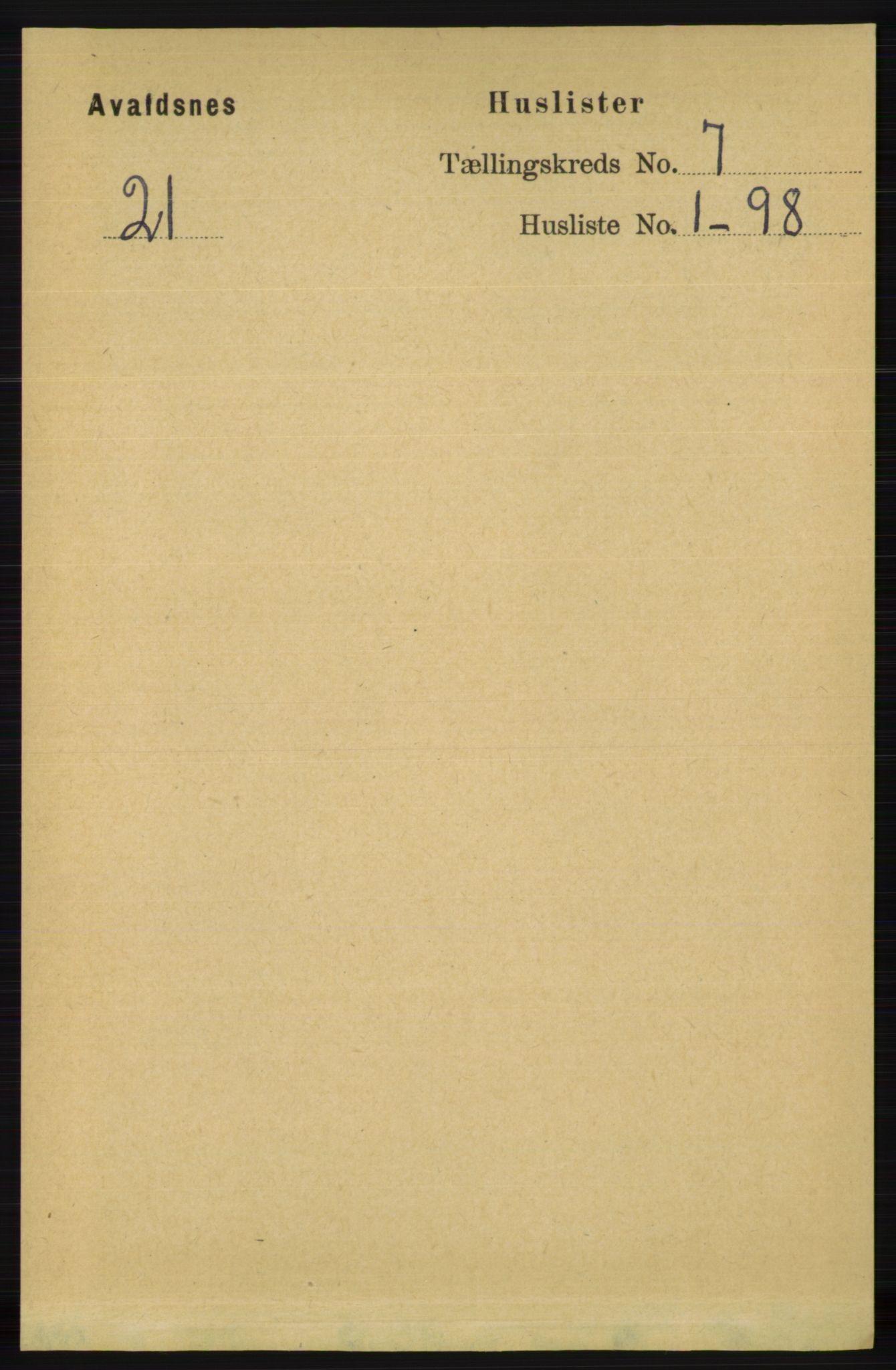 RA, Folketelling 1891 for 1147 Avaldsnes herred, 1891, s. 3582