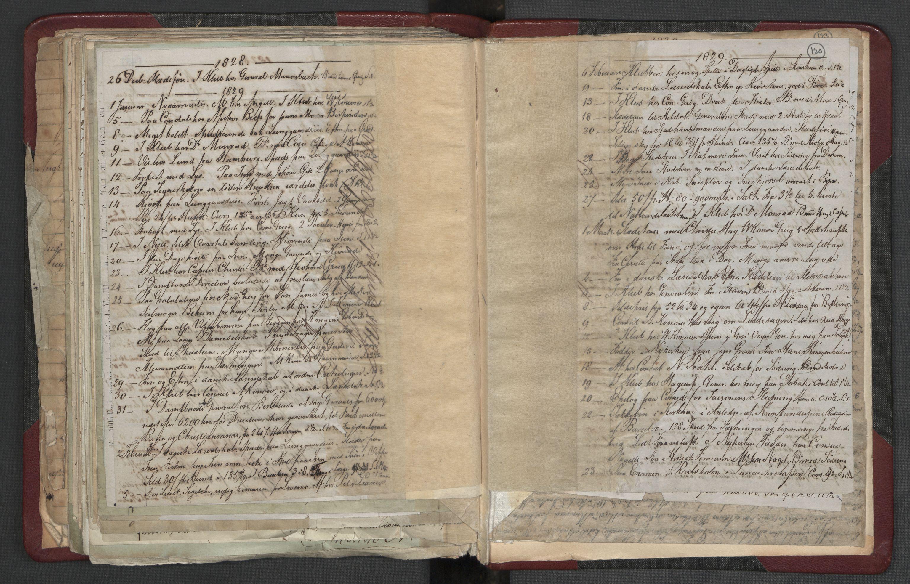 RA, Meltzer, Fredrik, F/L0004: Dagbok, 1822-1830, s. 119b-120a