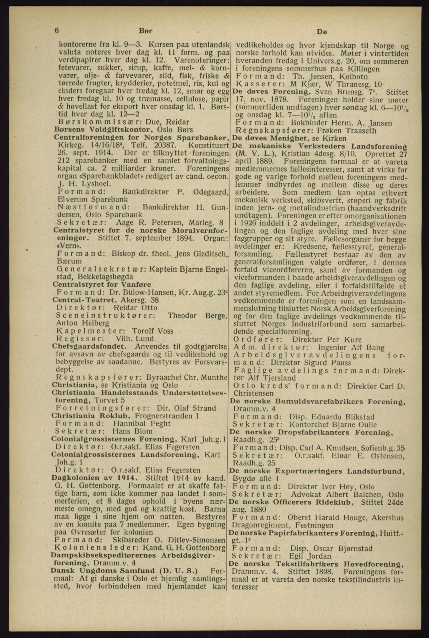 RA, Oslo adressebok (publikasjon)*, 1929, s. 6
