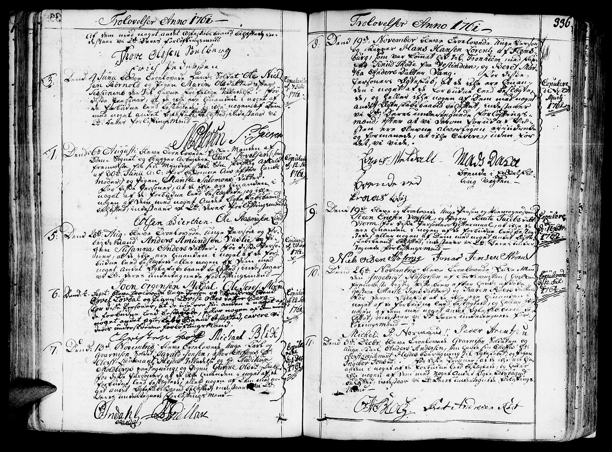 SAT, Ministerialprotokoller, klokkerbøker og fødselsregistre - Sør-Trøndelag, 602/L0103: Ministerialbok nr. 602A01, 1732-1774, s. 336