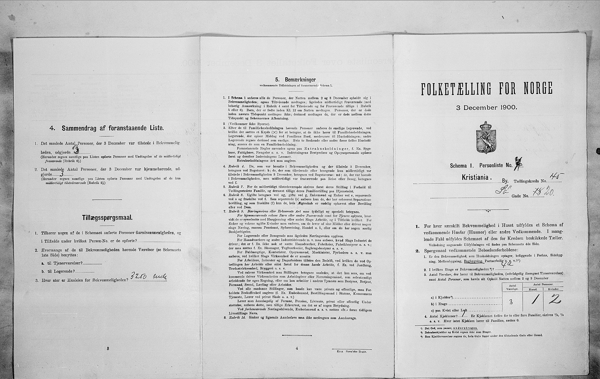 SAO, Folketelling 1900 for 0301 Kristiania kjøpstad, 1900, s. 95209
