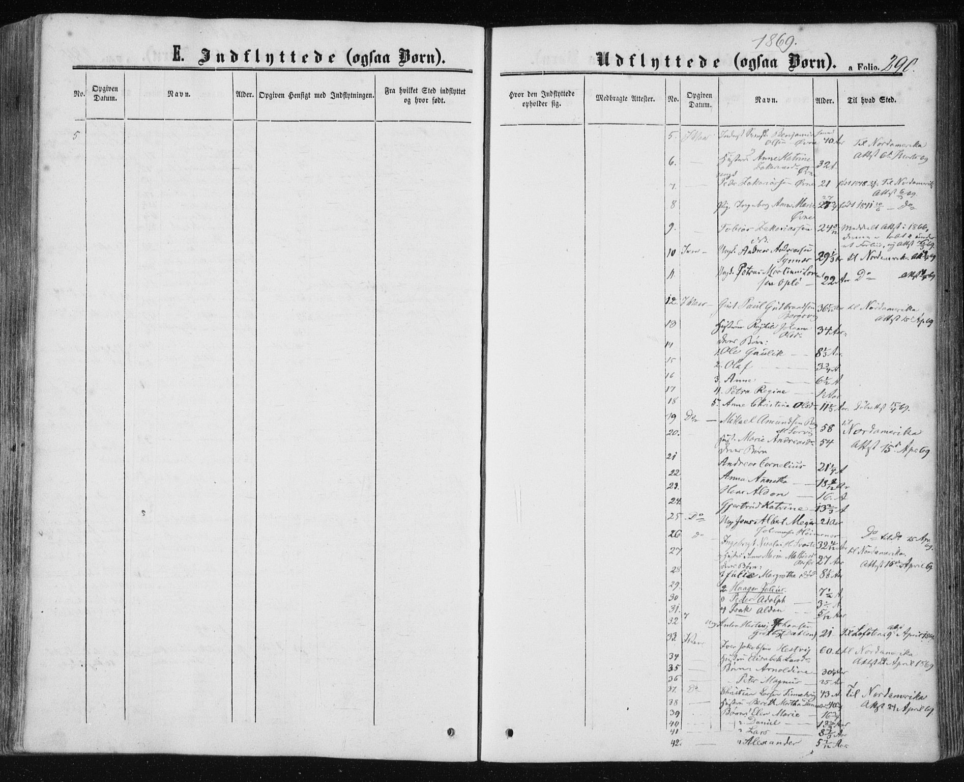 SAT, Ministerialprotokoller, klokkerbøker og fødselsregistre - Nord-Trøndelag, 780/L0641: Ministerialbok nr. 780A06, 1857-1874, s. 290