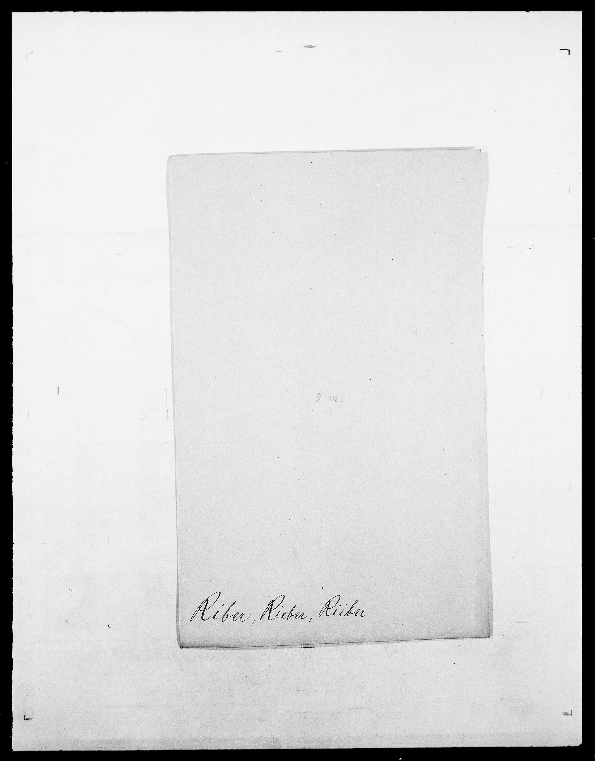 SAO, Delgobe, Charles Antoine - samling, D/Da/L0032: Rabakovsky - Rivertz, s. 516