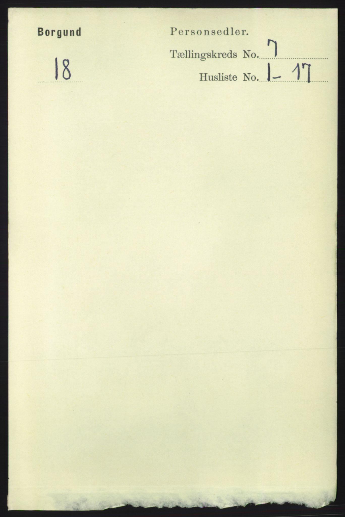 RA, Folketelling 1891 for 1531 Borgund herred, 1891, s. 1849