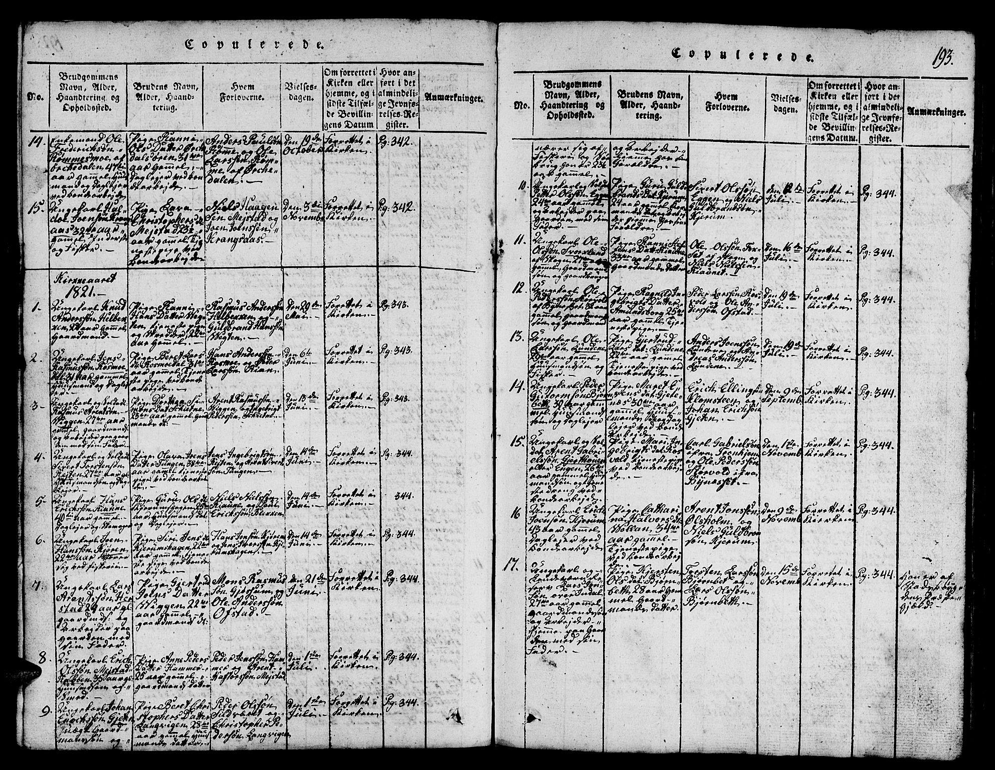SAT, Ministerialprotokoller, klokkerbøker og fødselsregistre - Sør-Trøndelag, 665/L0776: Klokkerbok nr. 665C01, 1817-1837, s. 193