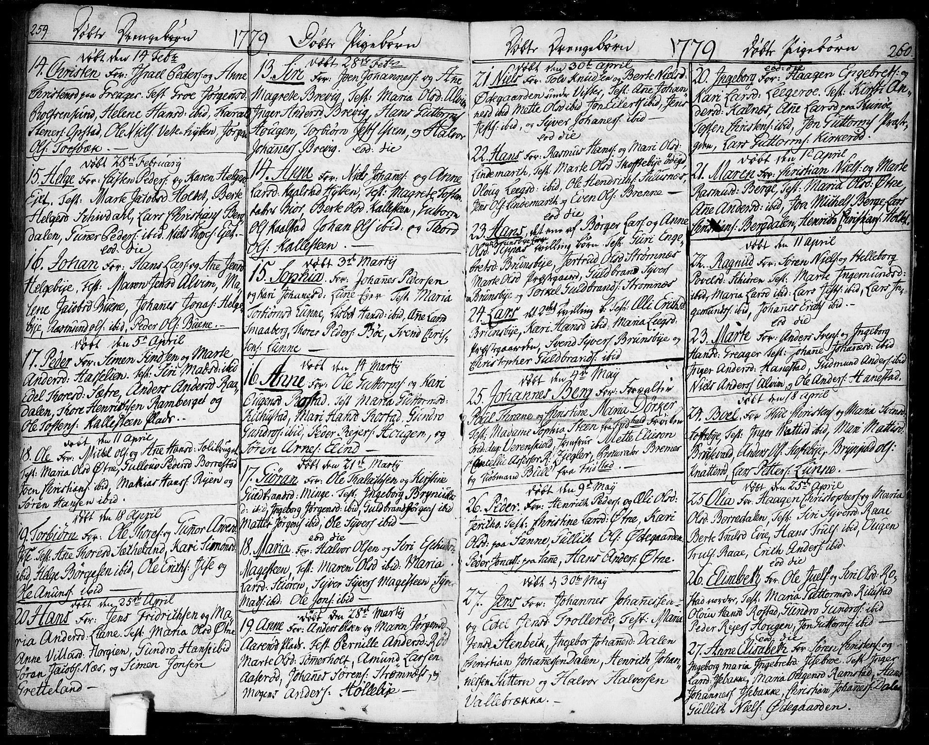 SAO, Tune prestekontor Kirkebøker, F/Fa/L0002: Ministerialbok nr. 2, 1758-1781, s. 259-260