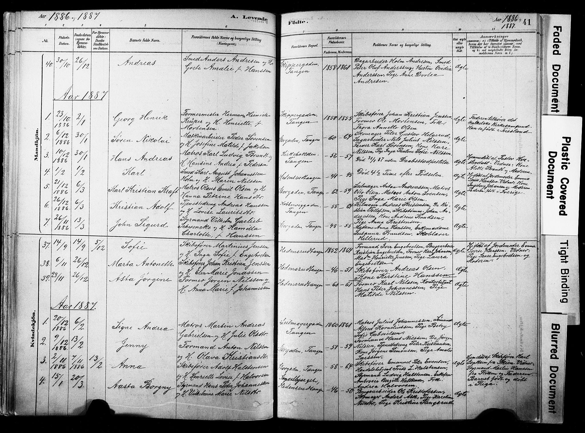 SAKO, Strømsø kirkebøker, F/Fb/L0006: Ministerialbok nr. II 6, 1879-1910, s. 41