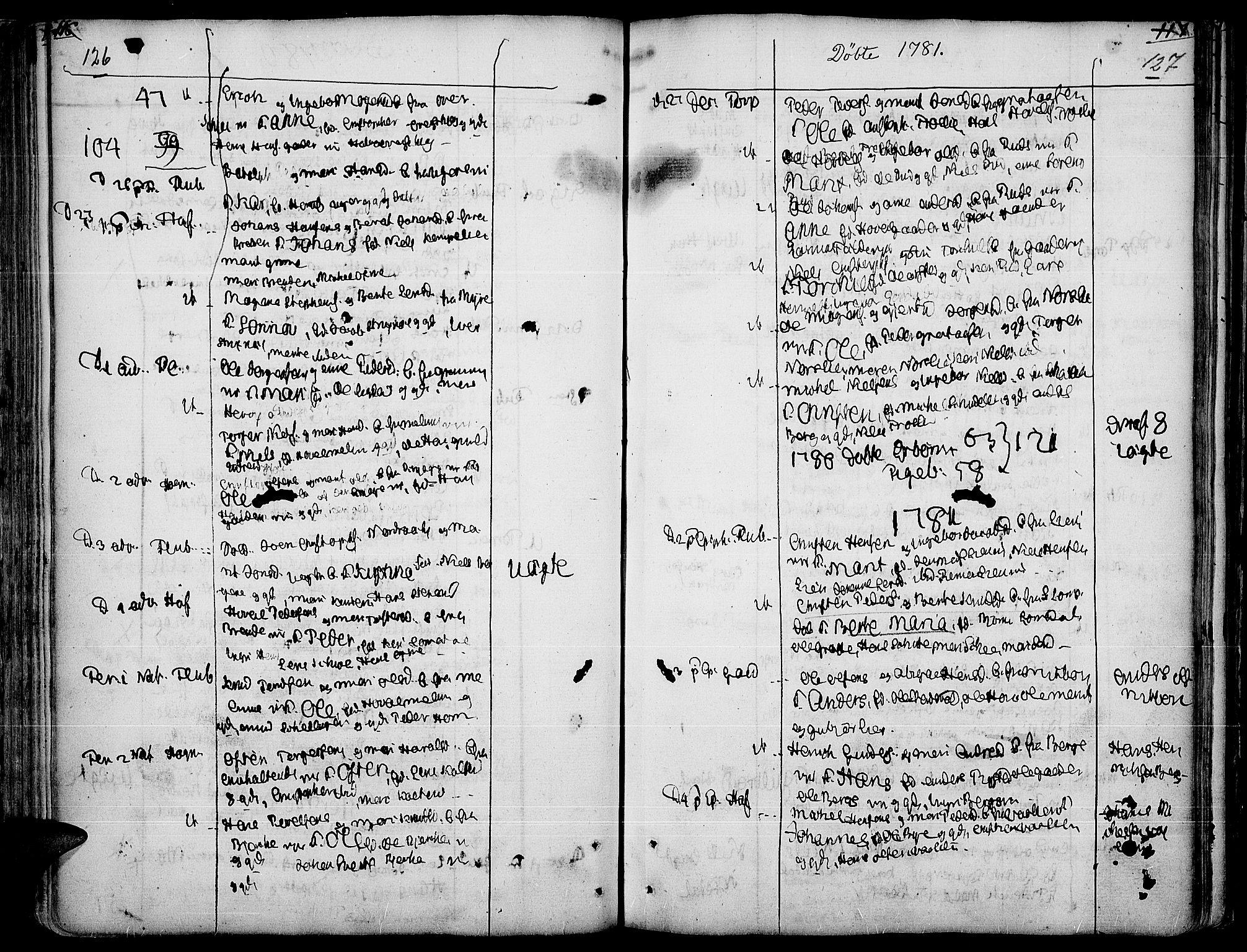 SAH, Land prestekontor, Ministerialbok nr. 5, 1765-1784, s. 126-127