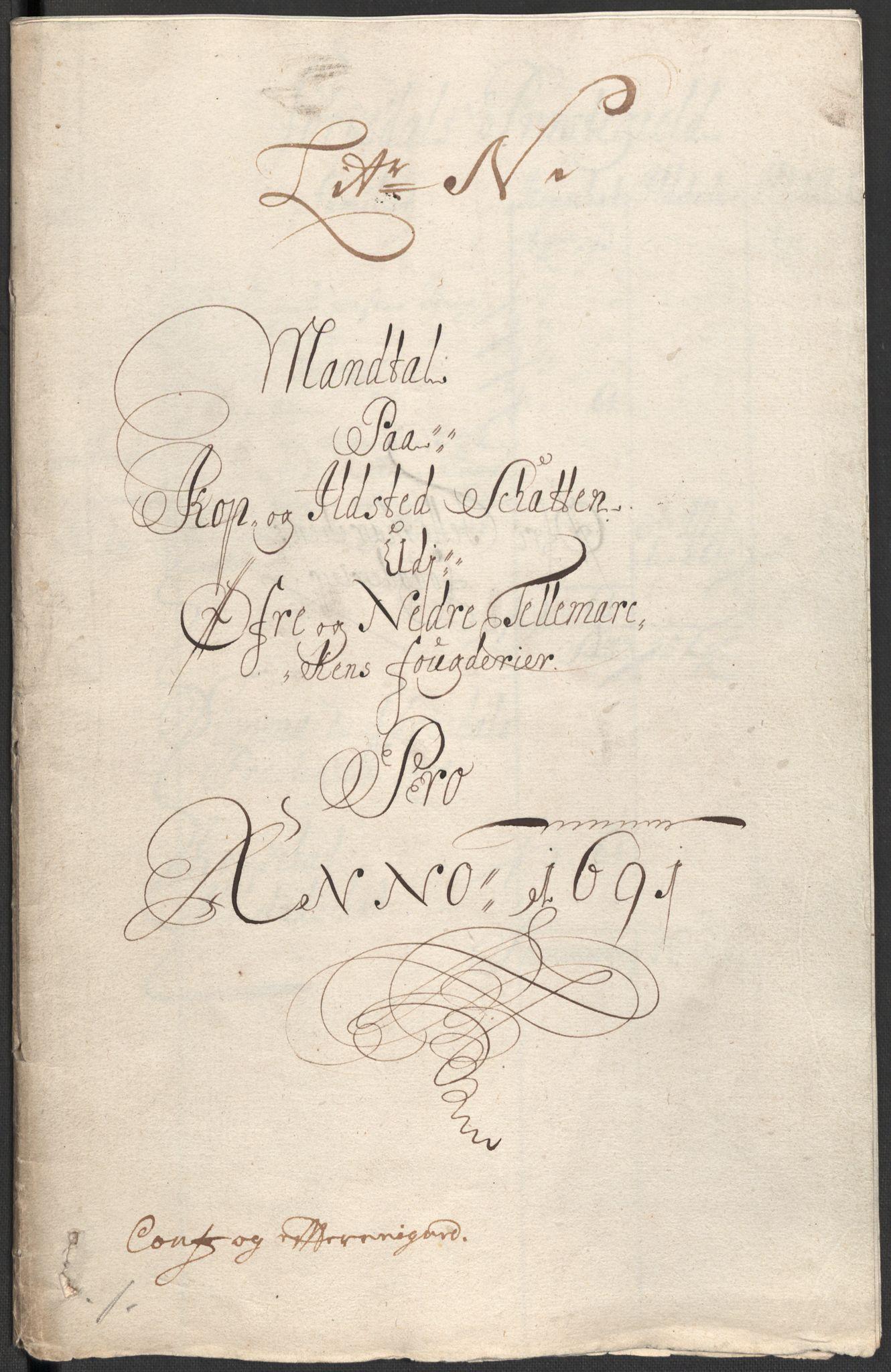 RA, Rentekammeret inntil 1814, Reviderte regnskaper, Fogderegnskap, R35/L2089: Fogderegnskap Øvre og Nedre Telemark, 1690-1692, s. 458