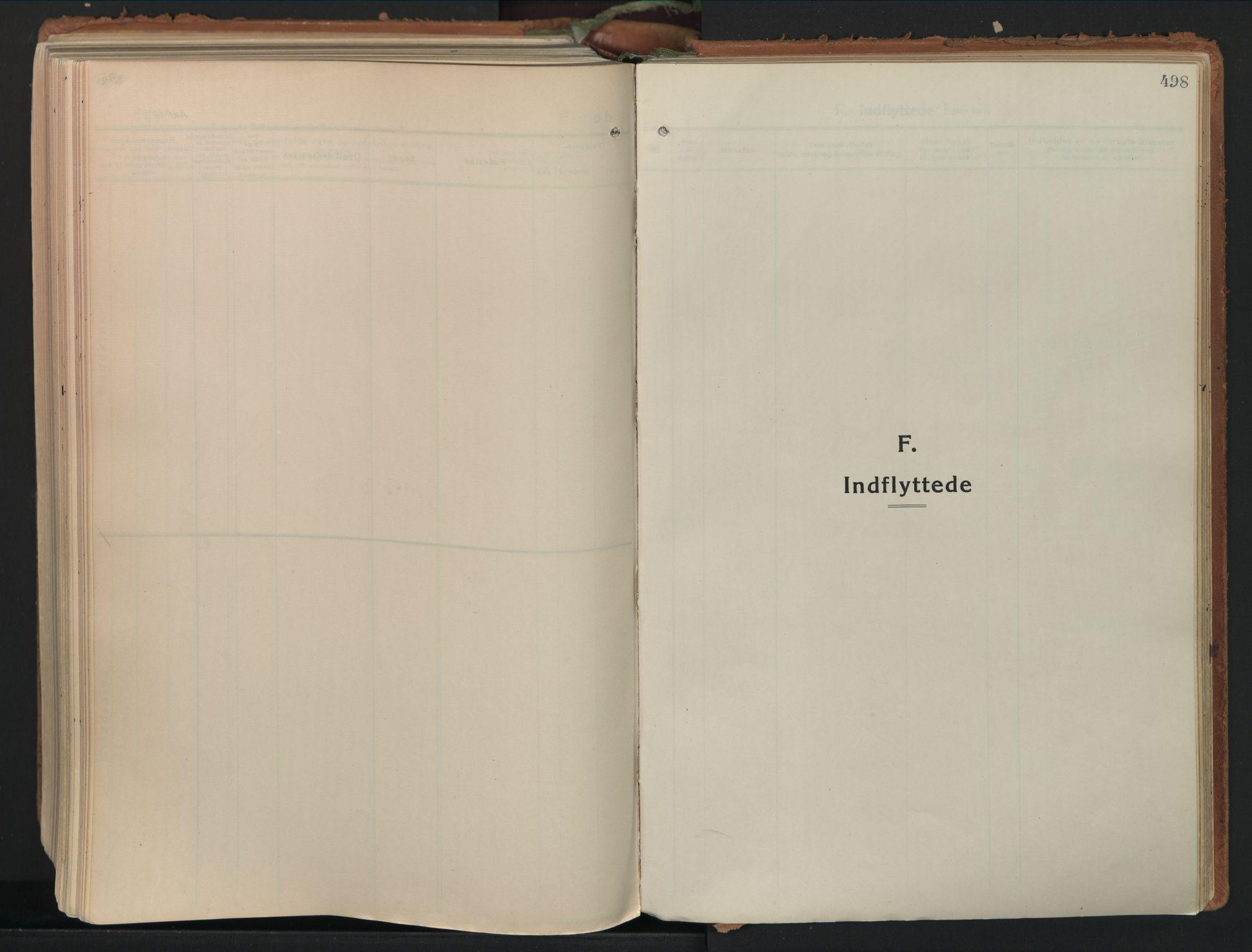 SAO, Moss prestekontor Kirkebøker, F/Fb/Fab/L0006: Ministerialbok nr. II 6, 1924-1932, s. 498
