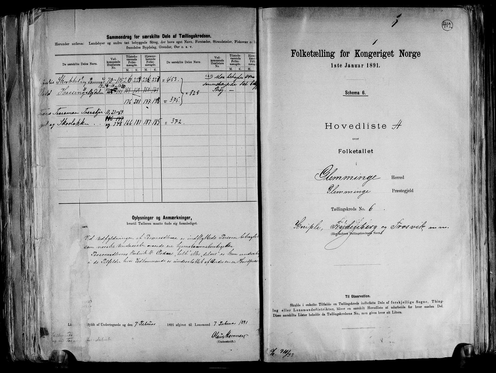RA, Folketelling 1891 for 0132 Glemmen herred, 1891, s. 24