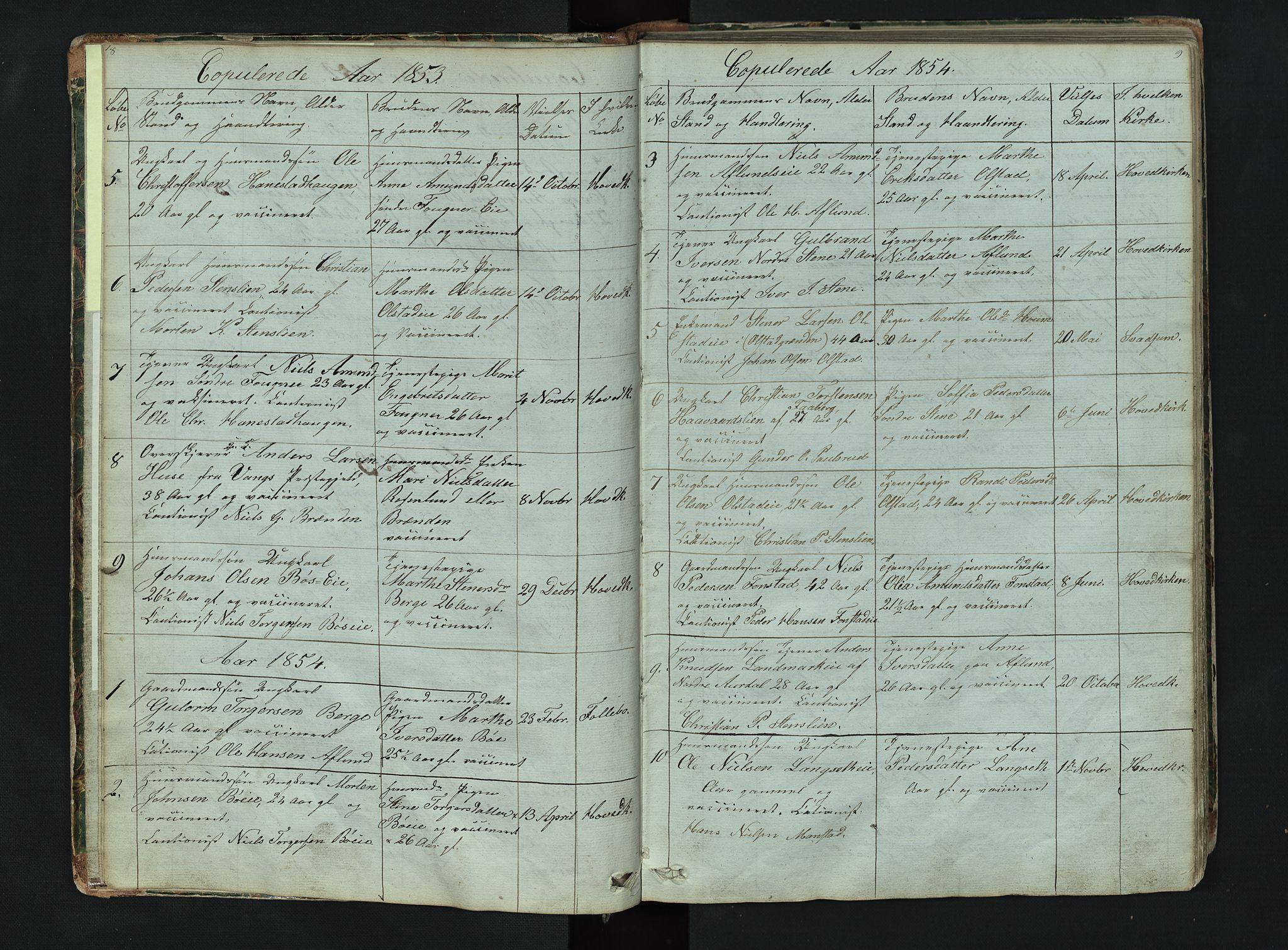 SAH, Gausdal prestekontor, Klokkerbok nr. 6, 1846-1893, s. 8-9