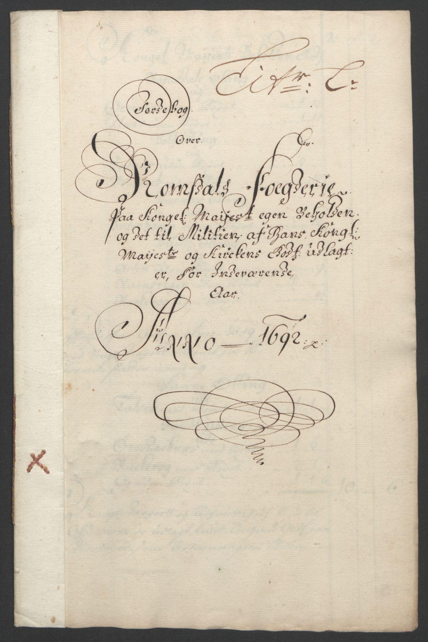 RA, Rentekammeret inntil 1814, Reviderte regnskaper, Fogderegnskap, R55/L3650: Fogderegnskap Romsdal, 1692, s. 136