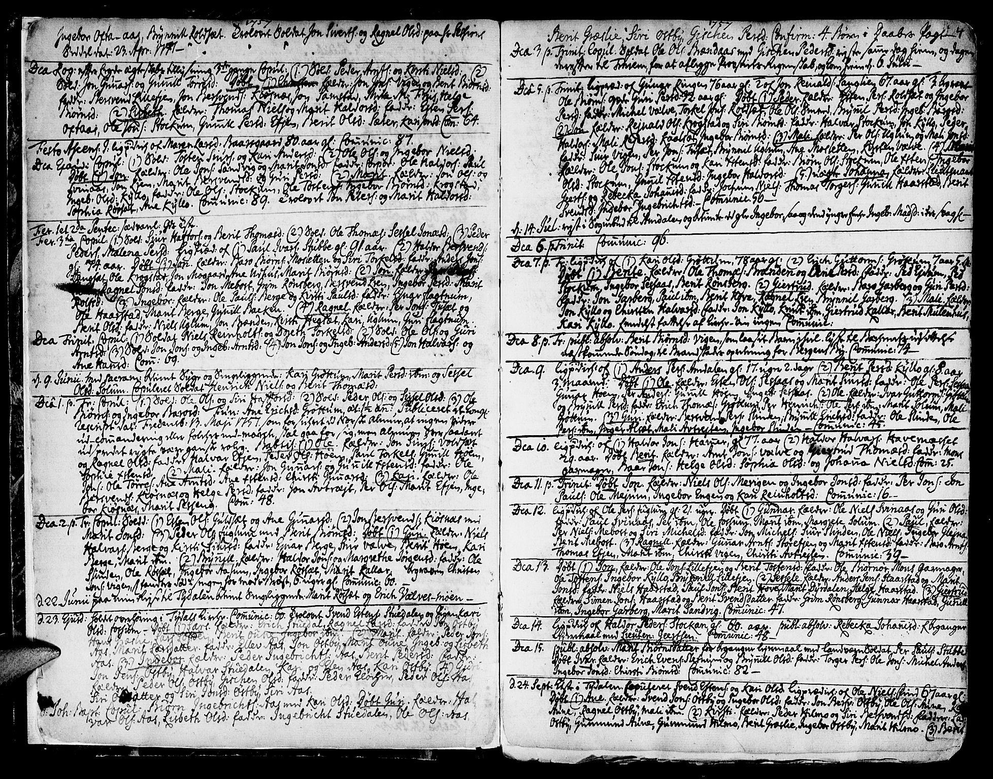 SAT, Ministerialprotokoller, klokkerbøker og fødselsregistre - Sør-Trøndelag, 695/L1138: Ministerialbok nr. 695A02 /1, 1757-1801, s. 4