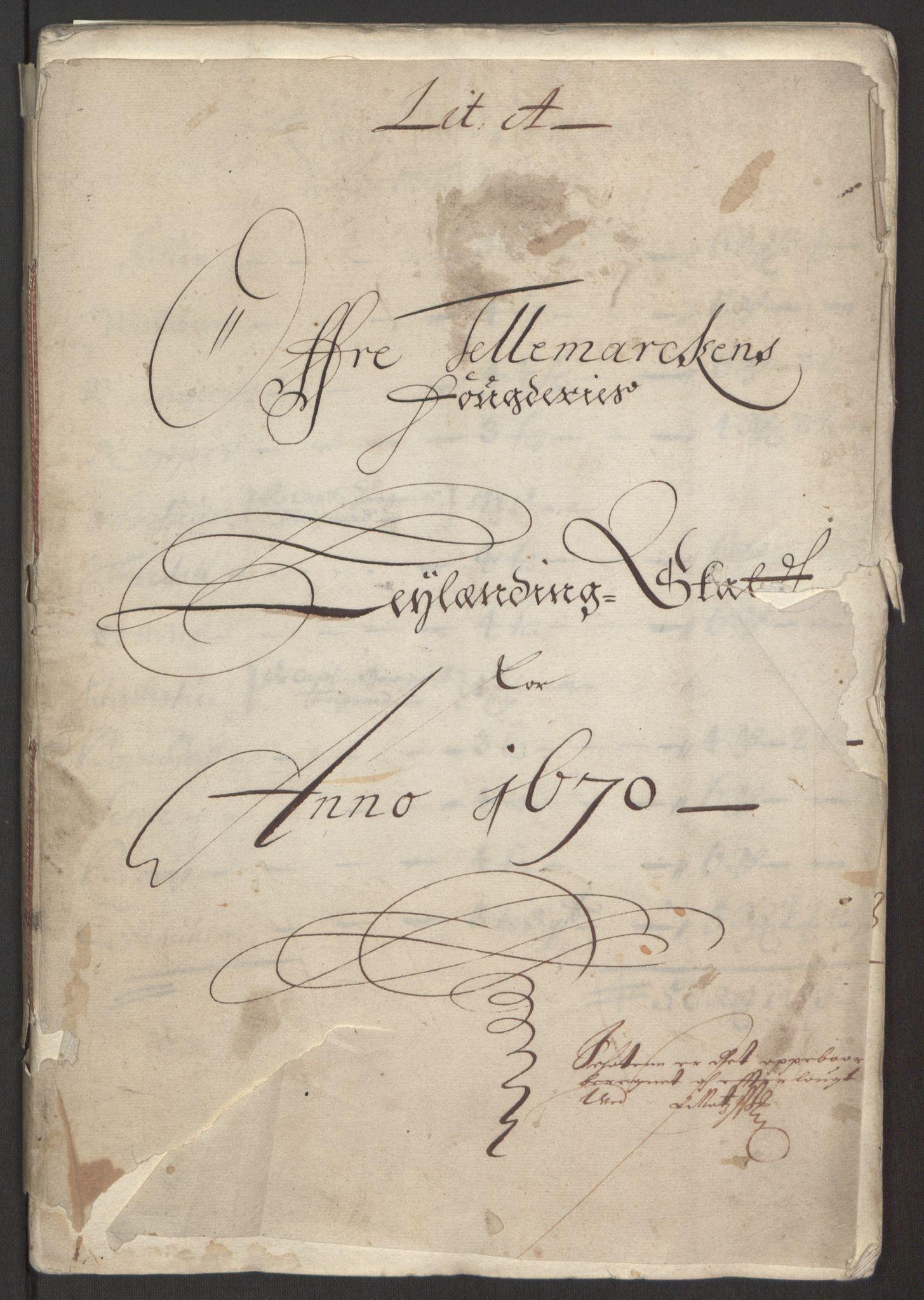 RA, Rentekammeret inntil 1814, Reviderte regnskaper, Fogderegnskap, R35/L2059: Fogderegnskap Øvre og Nedre Telemark, 1668-1670, s. 89