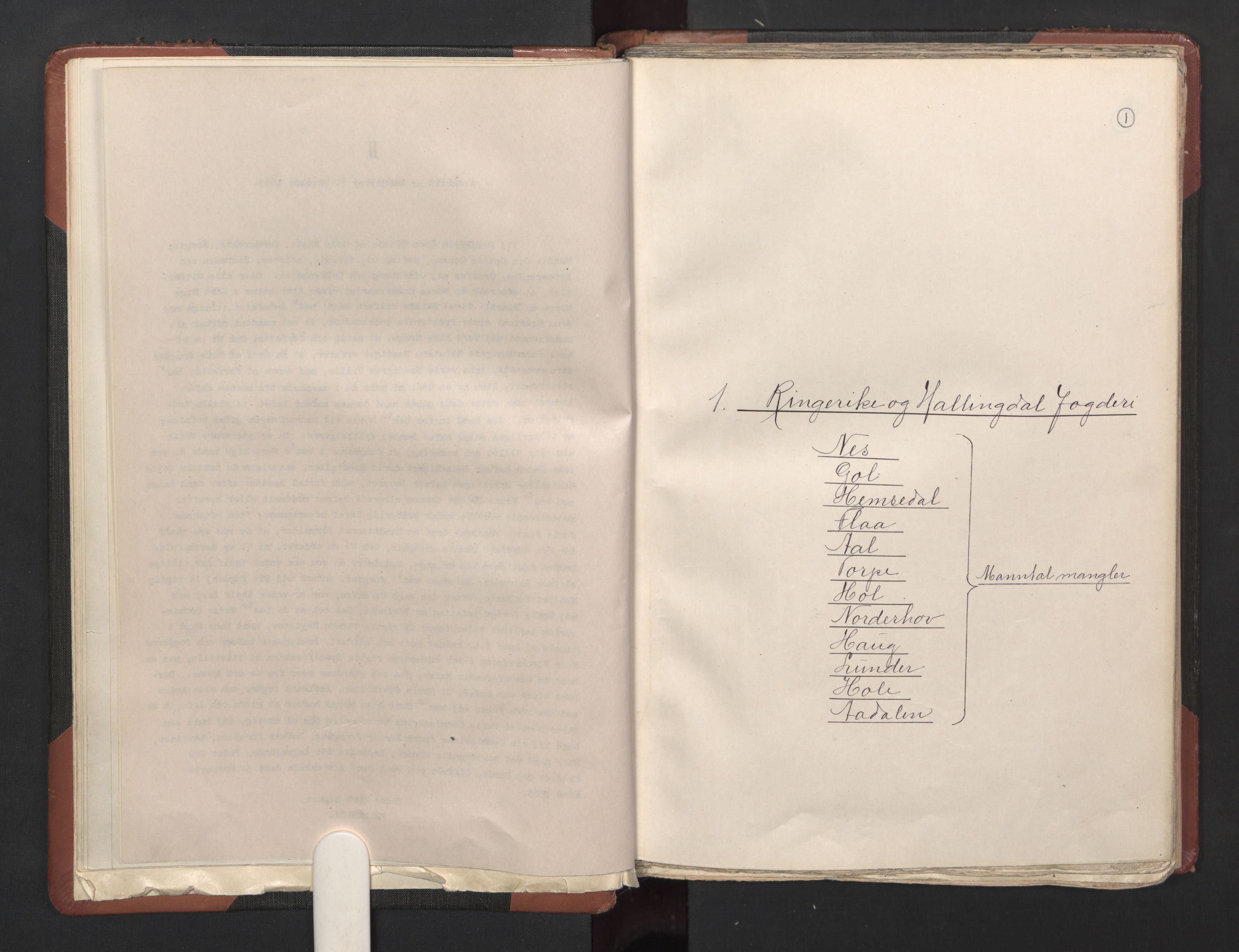 RA, Fogdenes og sorenskrivernes manntall 1664-1666, nr. 5: Fogderier (len og skipreider) i nåværende Buskerud fylke og Vestfold fylke, 1664, s. 1