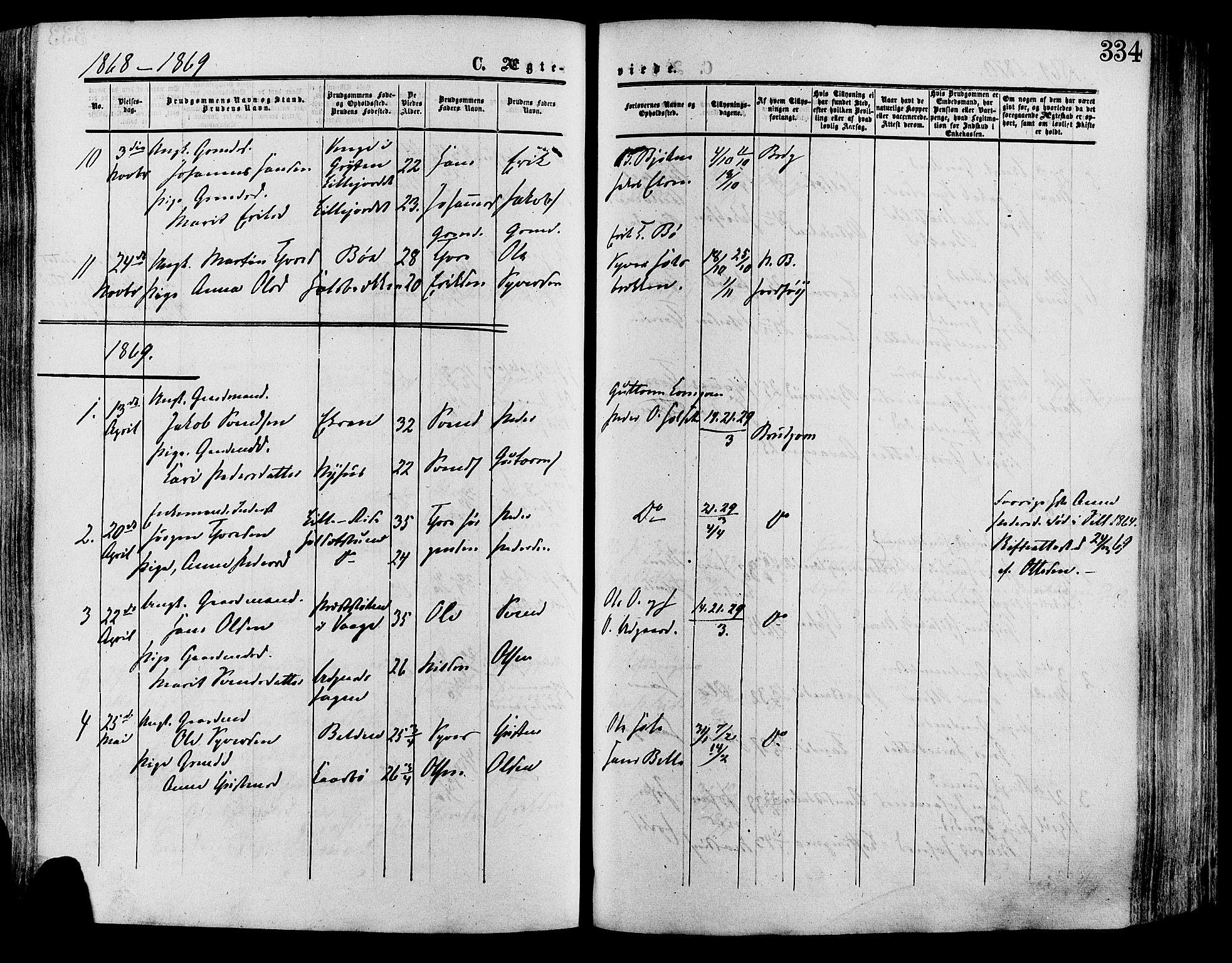 SAH, Lesja prestekontor, Ministerialbok nr. 8, 1854-1880, s. 334