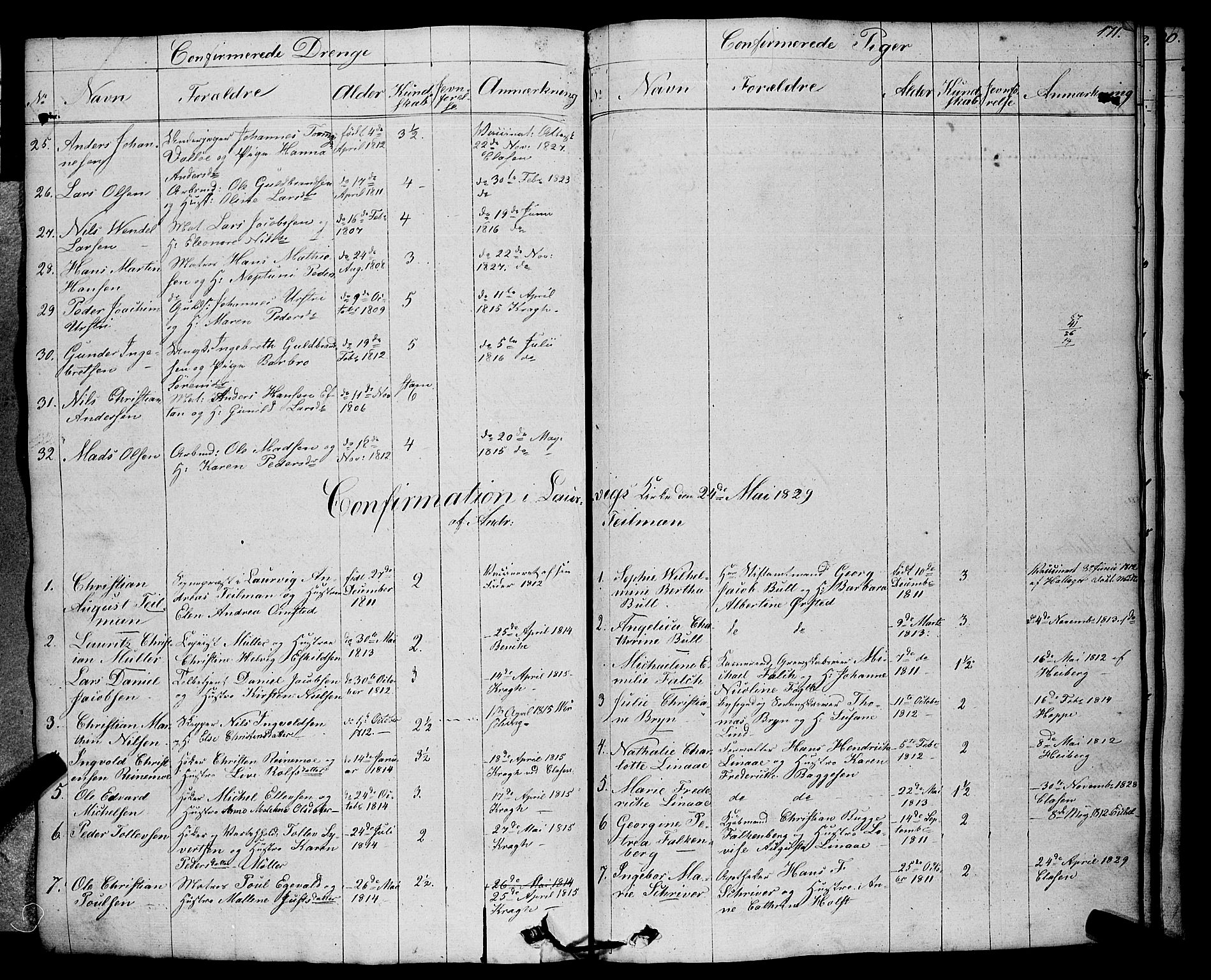 SAKO, Larvik kirkebøker, F/Fa/L0002: Ministerialbok nr. I 2, 1825-1847, s. 171