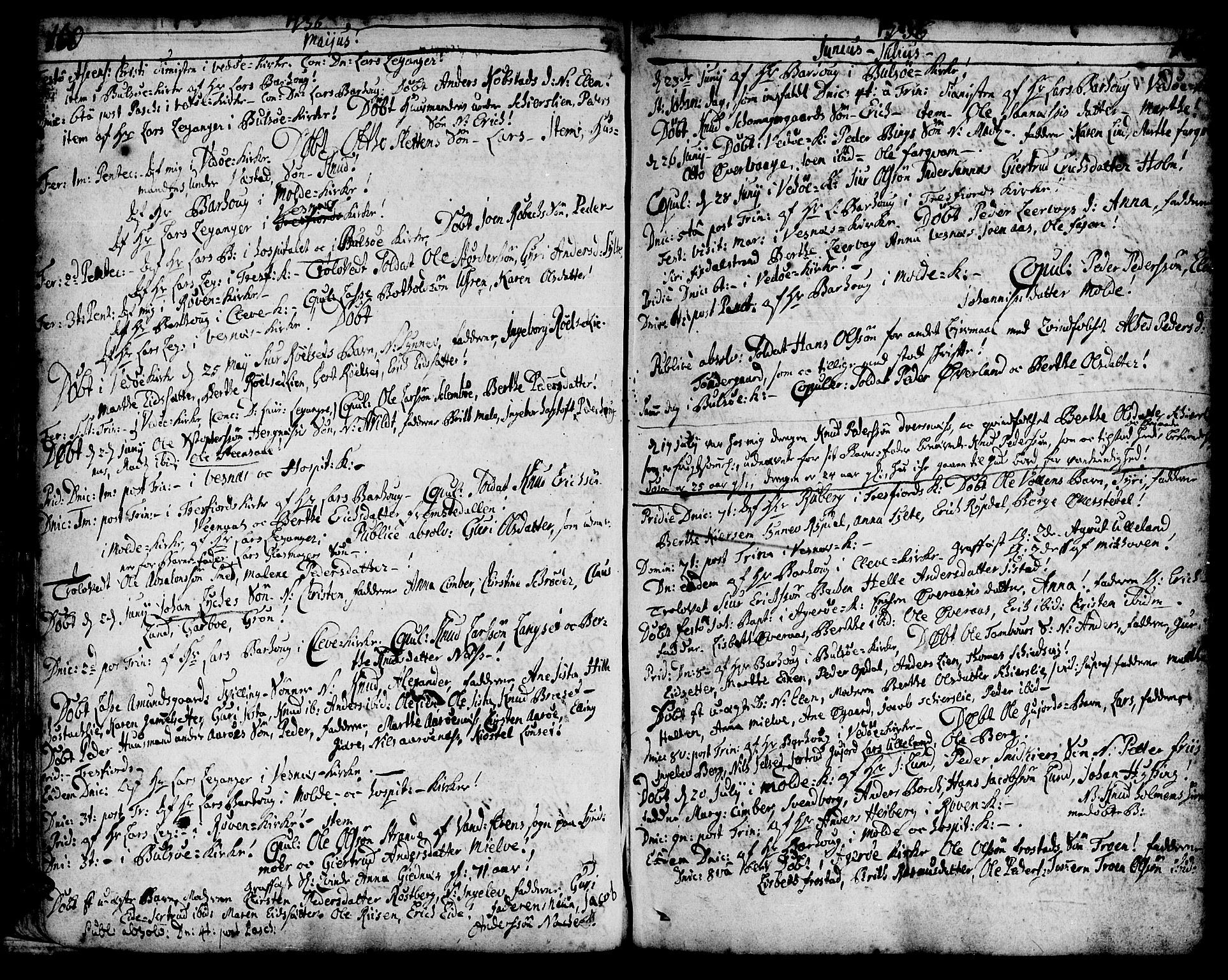 SAT, Ministerialprotokoller, klokkerbøker og fødselsregistre - Møre og Romsdal, 547/L0599: Ministerialbok nr. 547A01, 1721-1764, s. 162-163