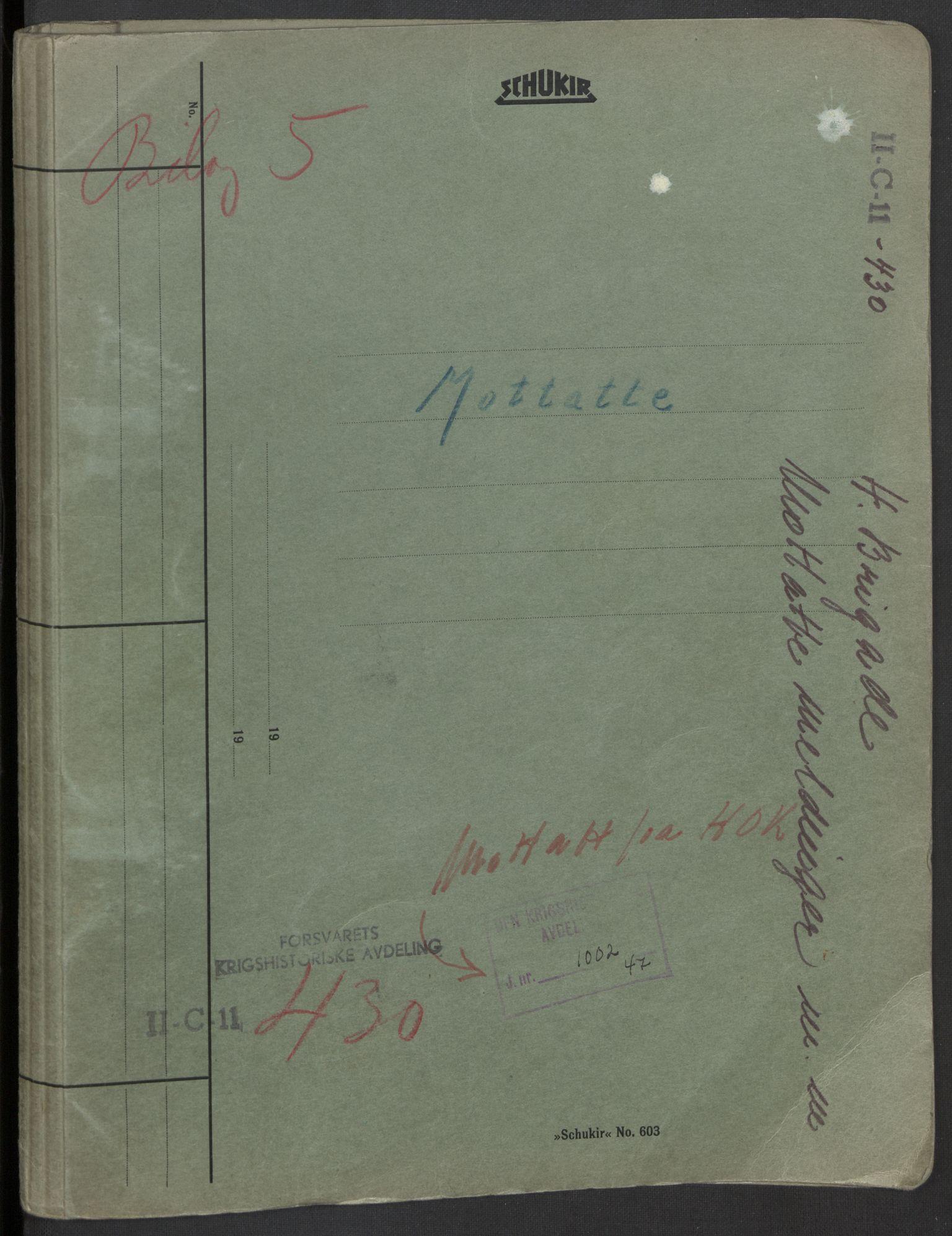 RA, Forsvaret, Forsvarets krigshistoriske avdeling, Y/Yb/L0104: II-C-11-430  -  4. Divisjon., 1940, s. 130